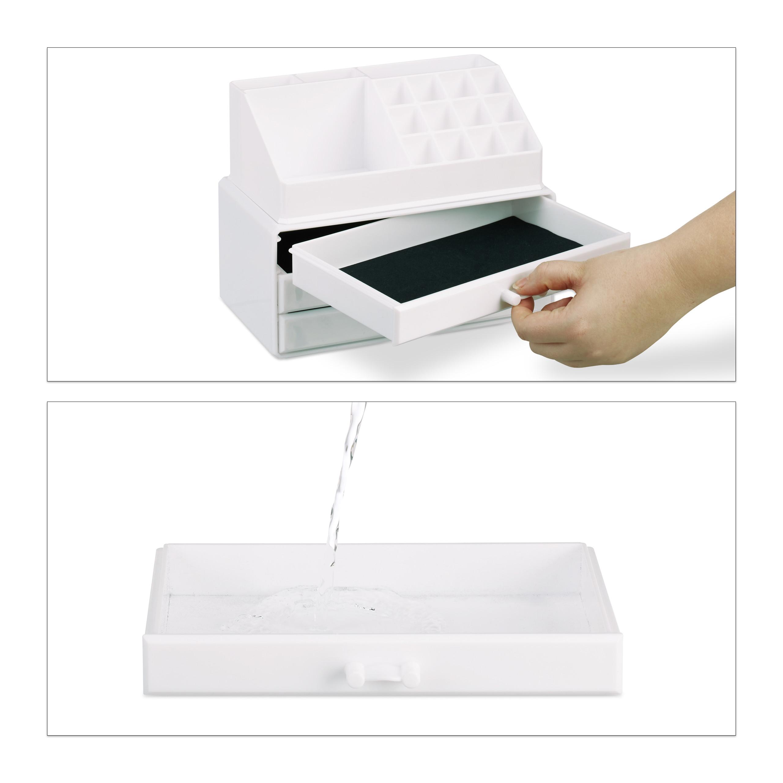 Make-Up-Organizer-klein-Kosmetikbox-stapelbar-Lippenstifthalter-Schmuckkasten miniatura 21