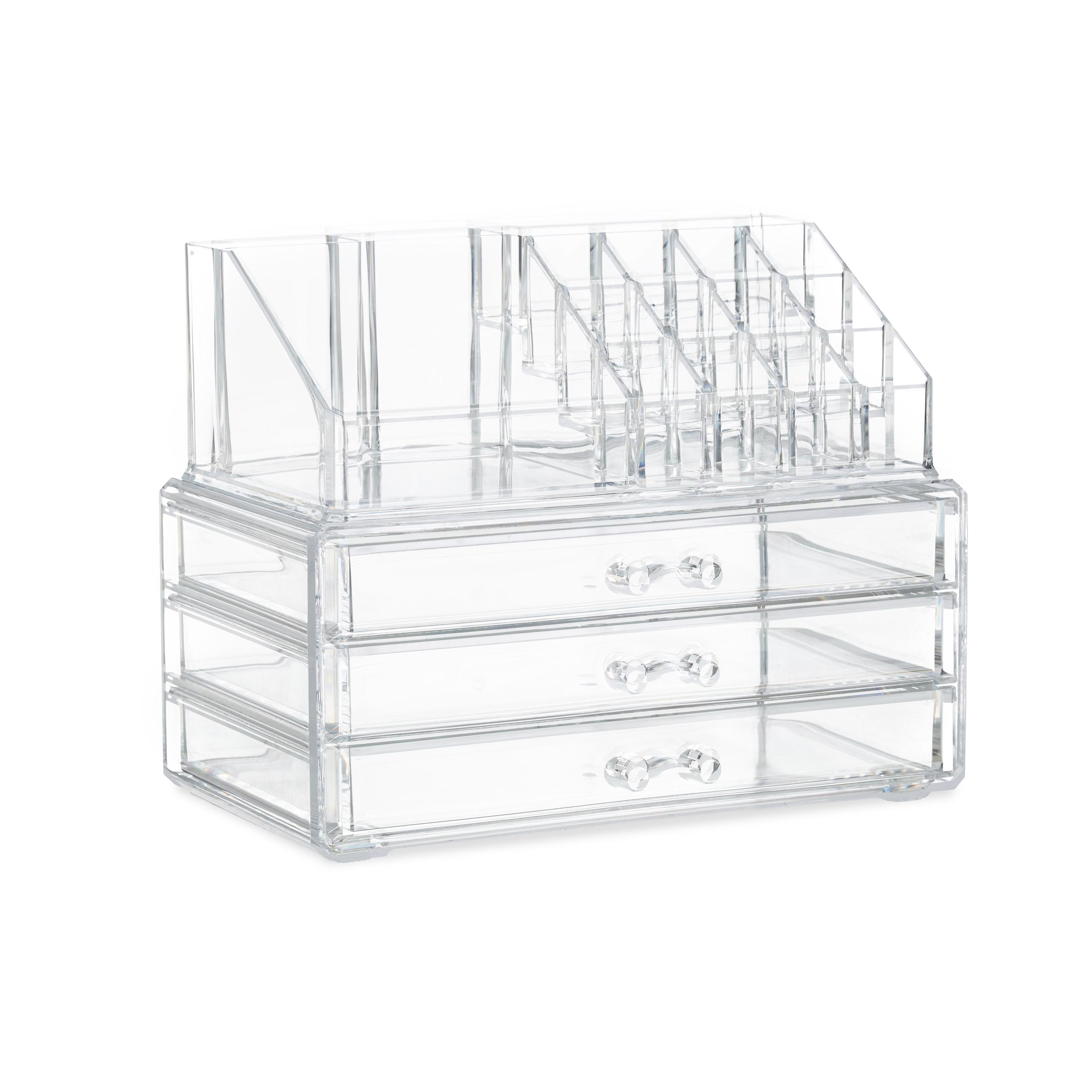 Make-Up-Organizer-klein-Kosmetikbox-stapelbar-Lippenstifthalter-Schmuckkasten miniatura 15