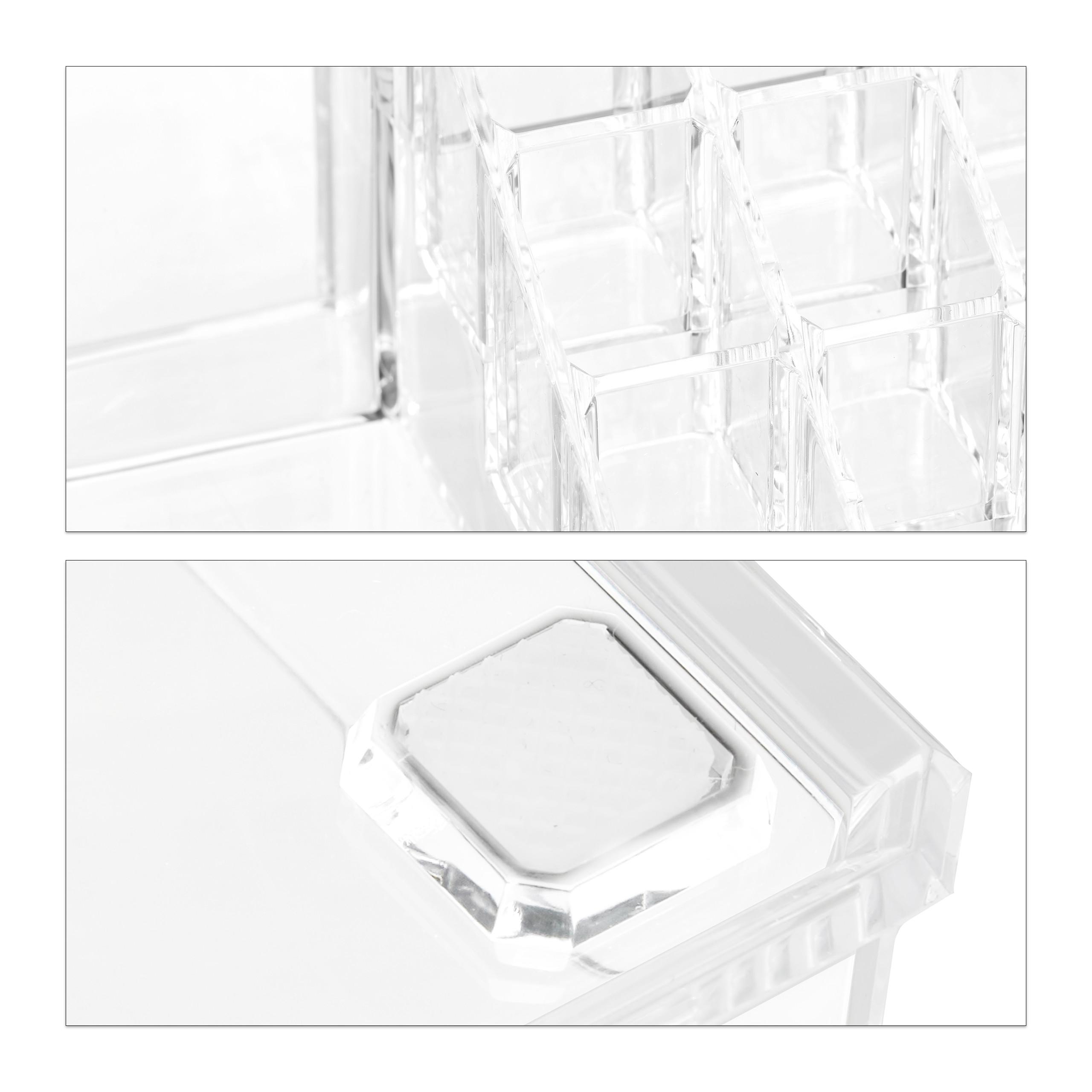 Make-Up-Organizer-klein-Kosmetikbox-stapelbar-Lippenstifthalter-Schmuckkasten miniatura 19