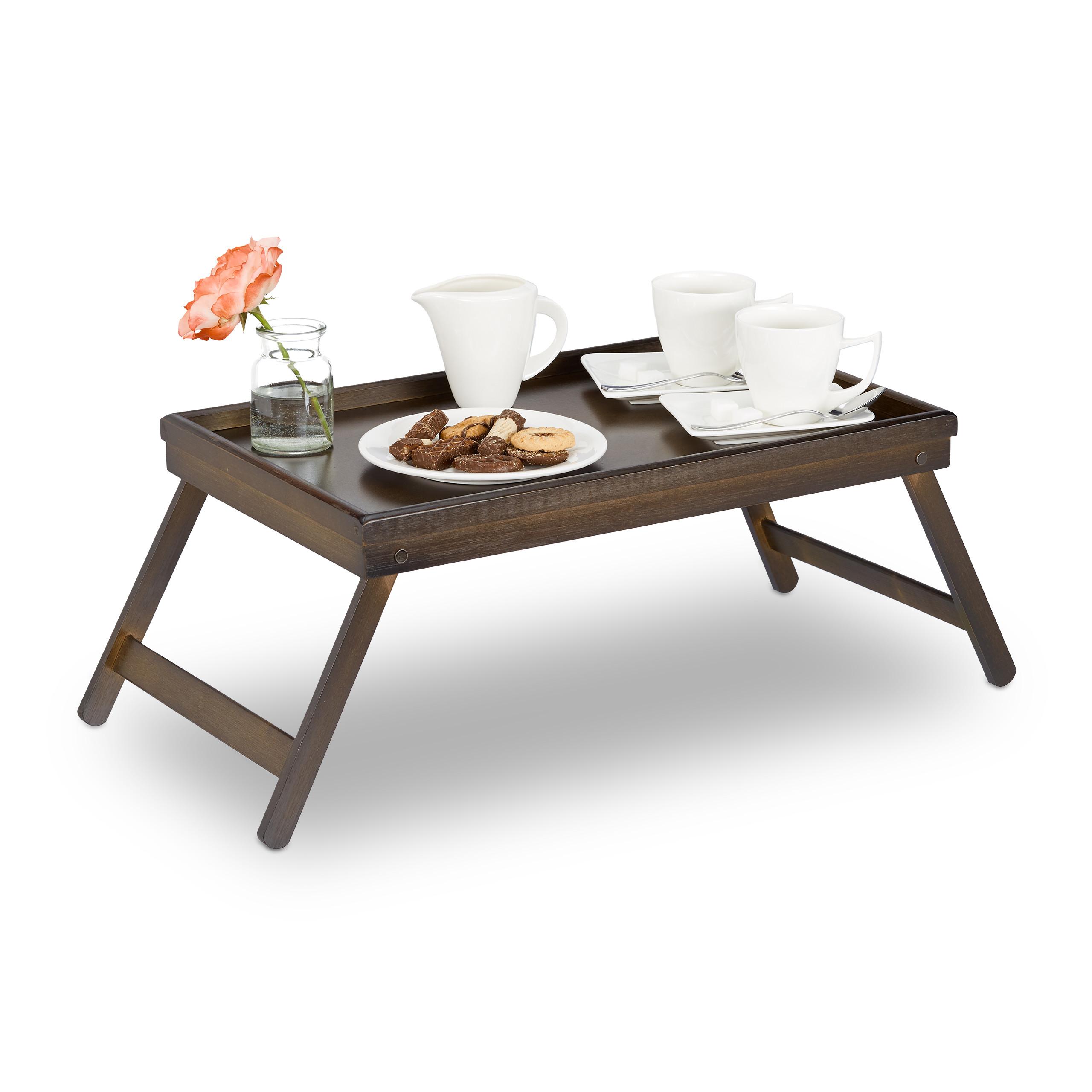 Betttablett Bambus Betttisch klappbar Frühstückstablett Tabletttisch Holztablett