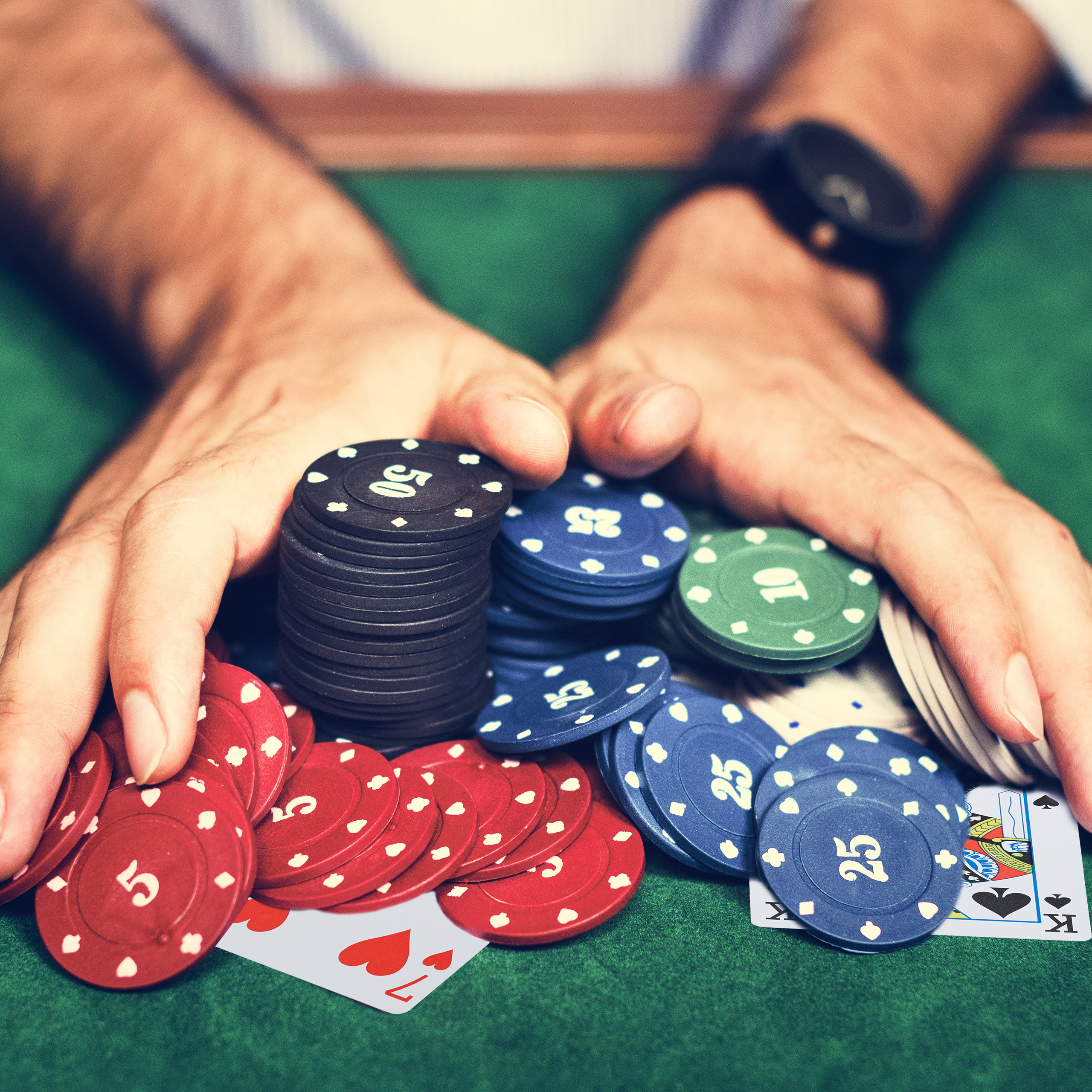 Pokerkarten Plastik