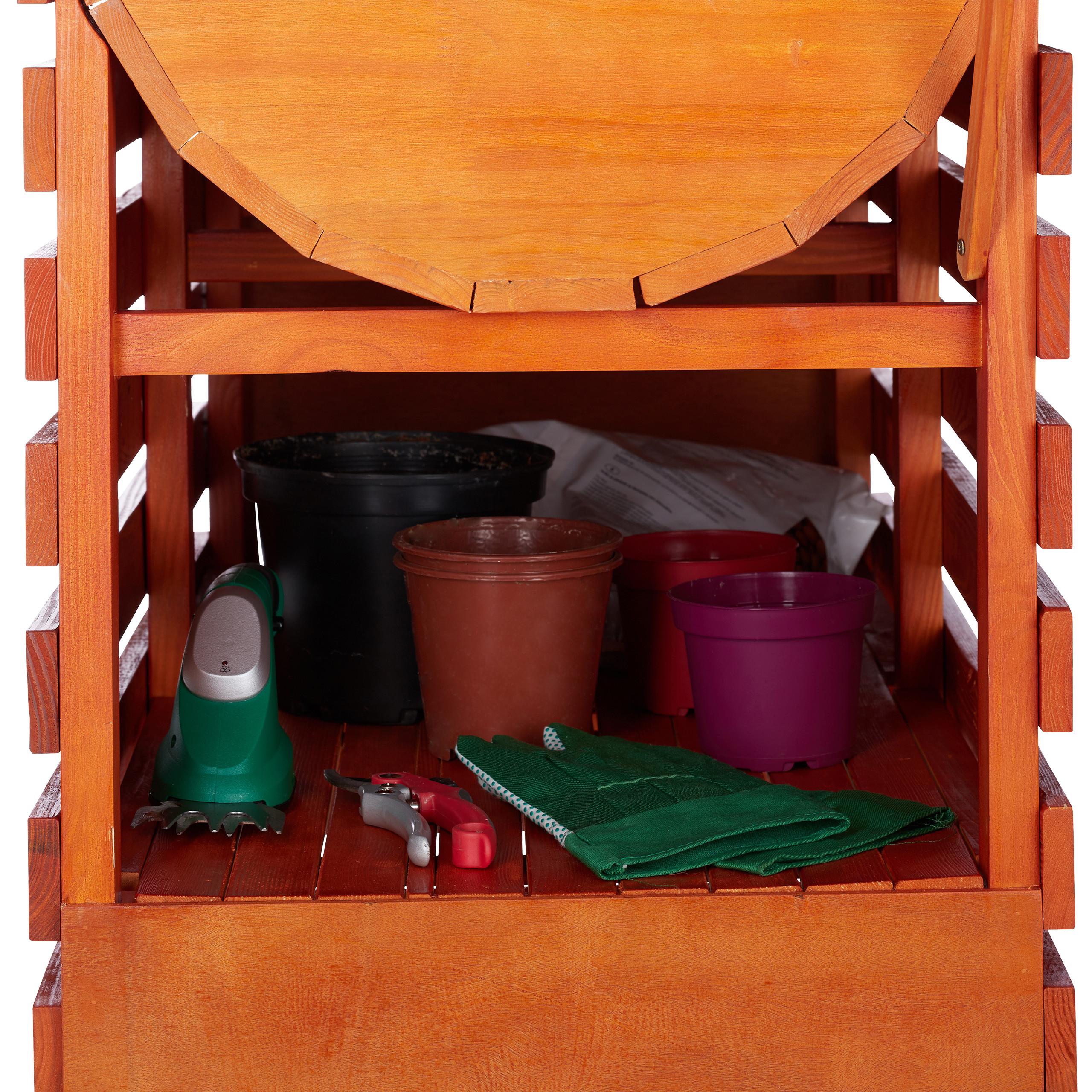 Hochbeet-Holz-Trog-Blumenkasten-Pflanzkasten-Fruehbeet-auf-Rollen-Kraeuterbeet Indexbild 18