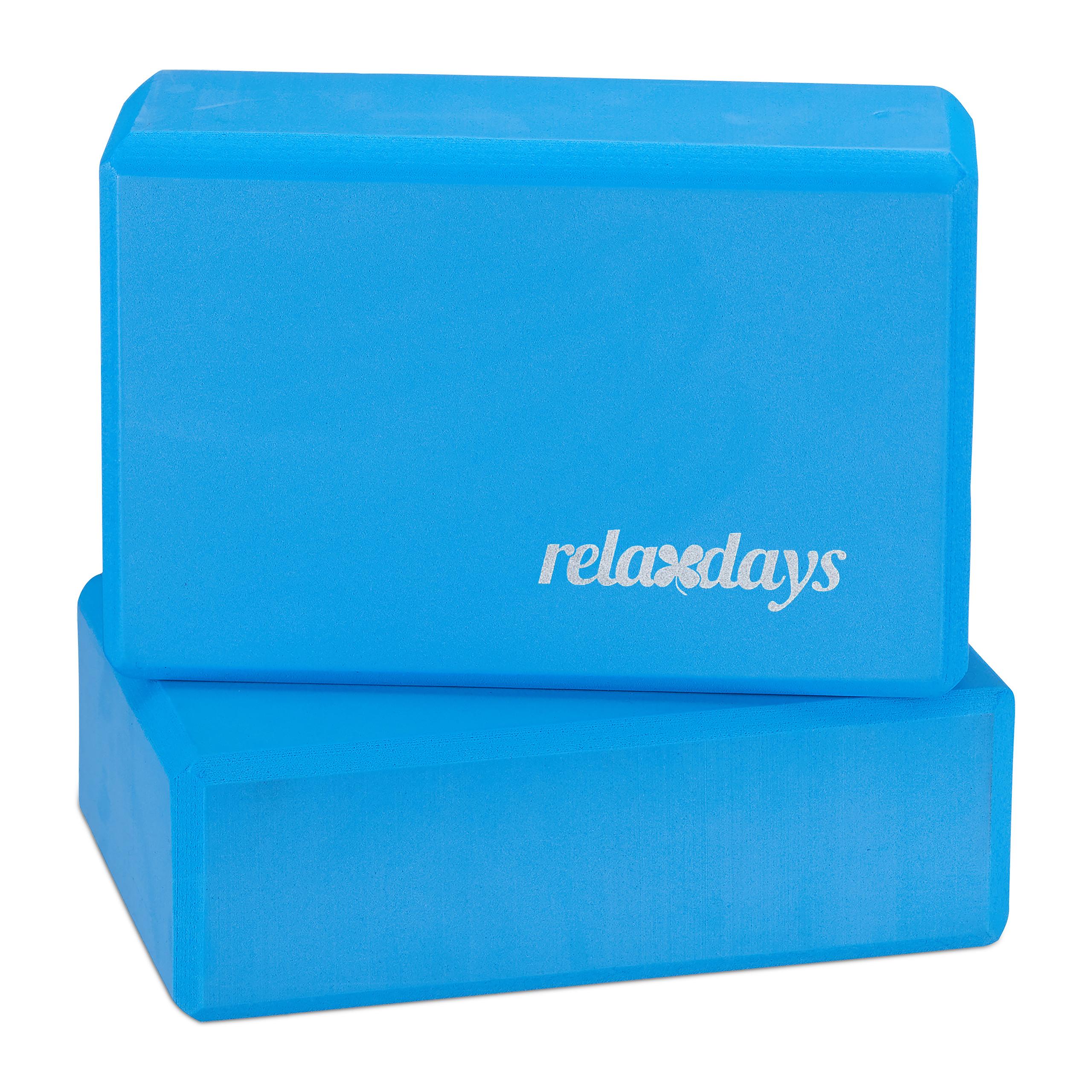 10 x Yogablock blau Schaumstoff Yoga-Klötze Hartschaum Yoga-Würfel Sport