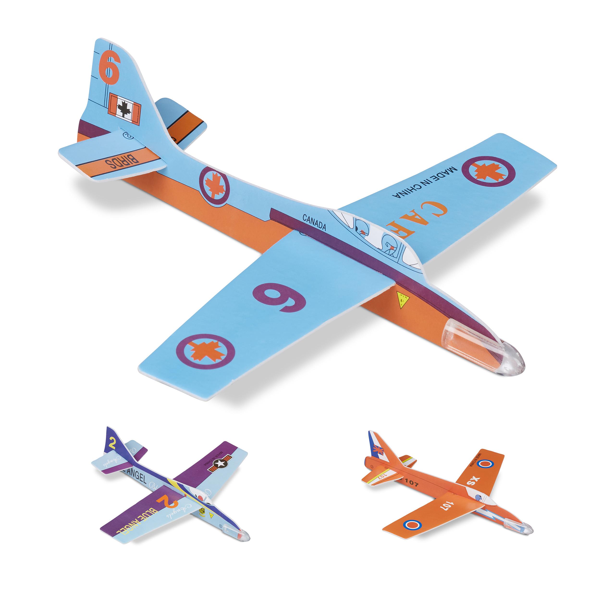 4x Styroporflieger Styropor Flieger Flugzeug NEU