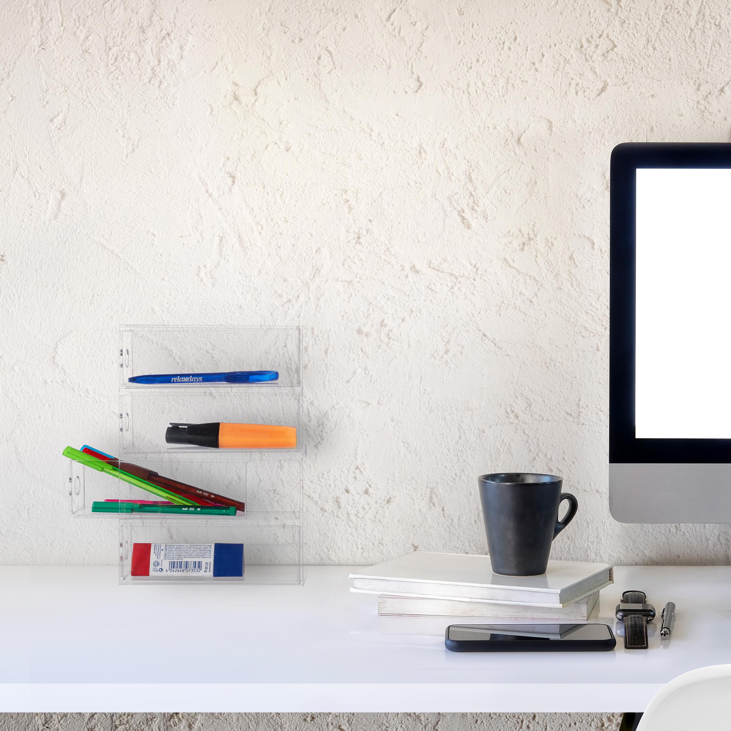 Make-Up-Organizer-Acryl-Schubladenbox-4-Schubladen-Kosmetikorganizer-transparent miniatuur 3