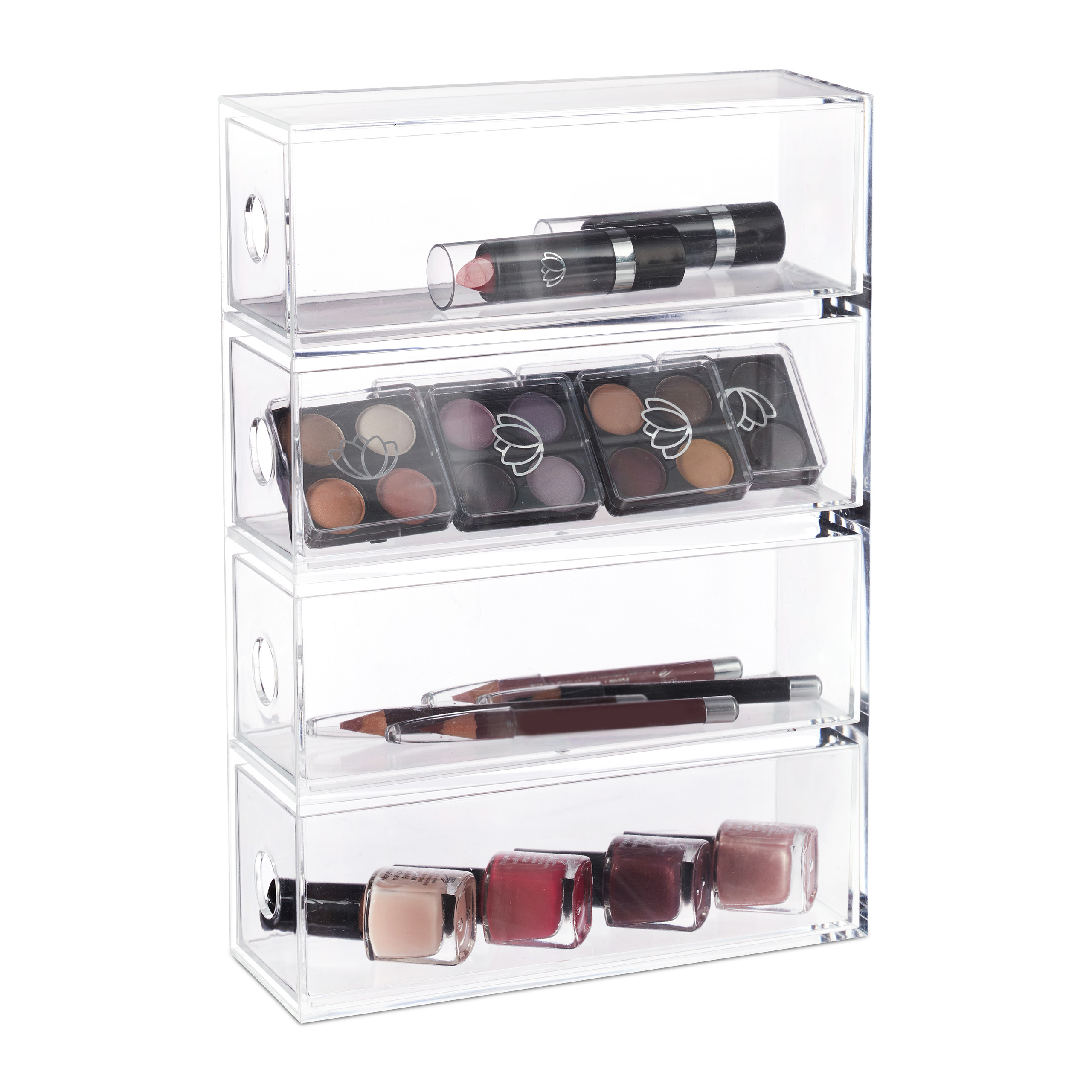 Make-Up-Organizer-Acryl-Schubladenbox-4-Schubladen-Kosmetikorganizer-transparent miniatuur 4