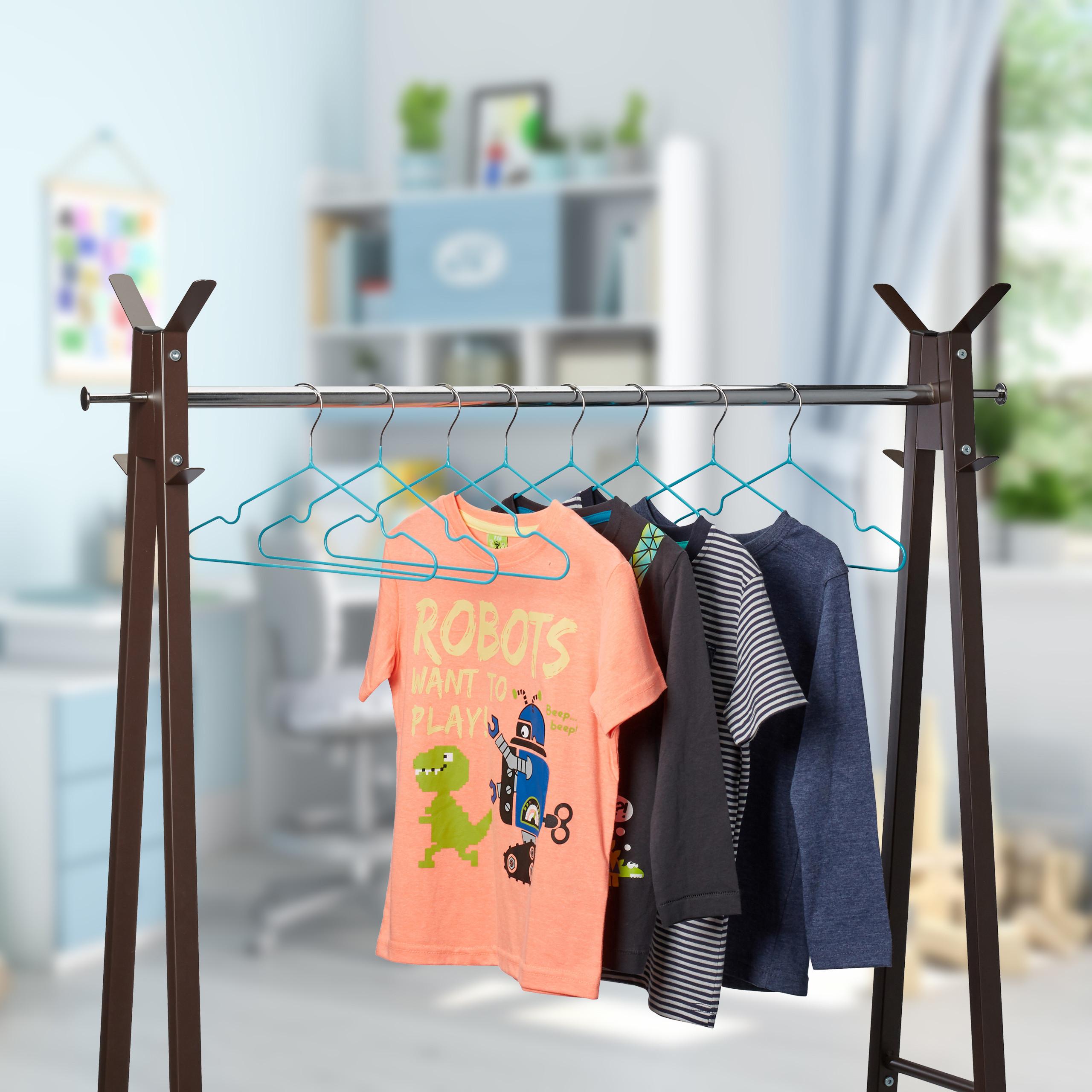 Kinderkleiderbügel 20er Set Drahtbügel PVC-Beschichtung Babybügel Kinderbügel