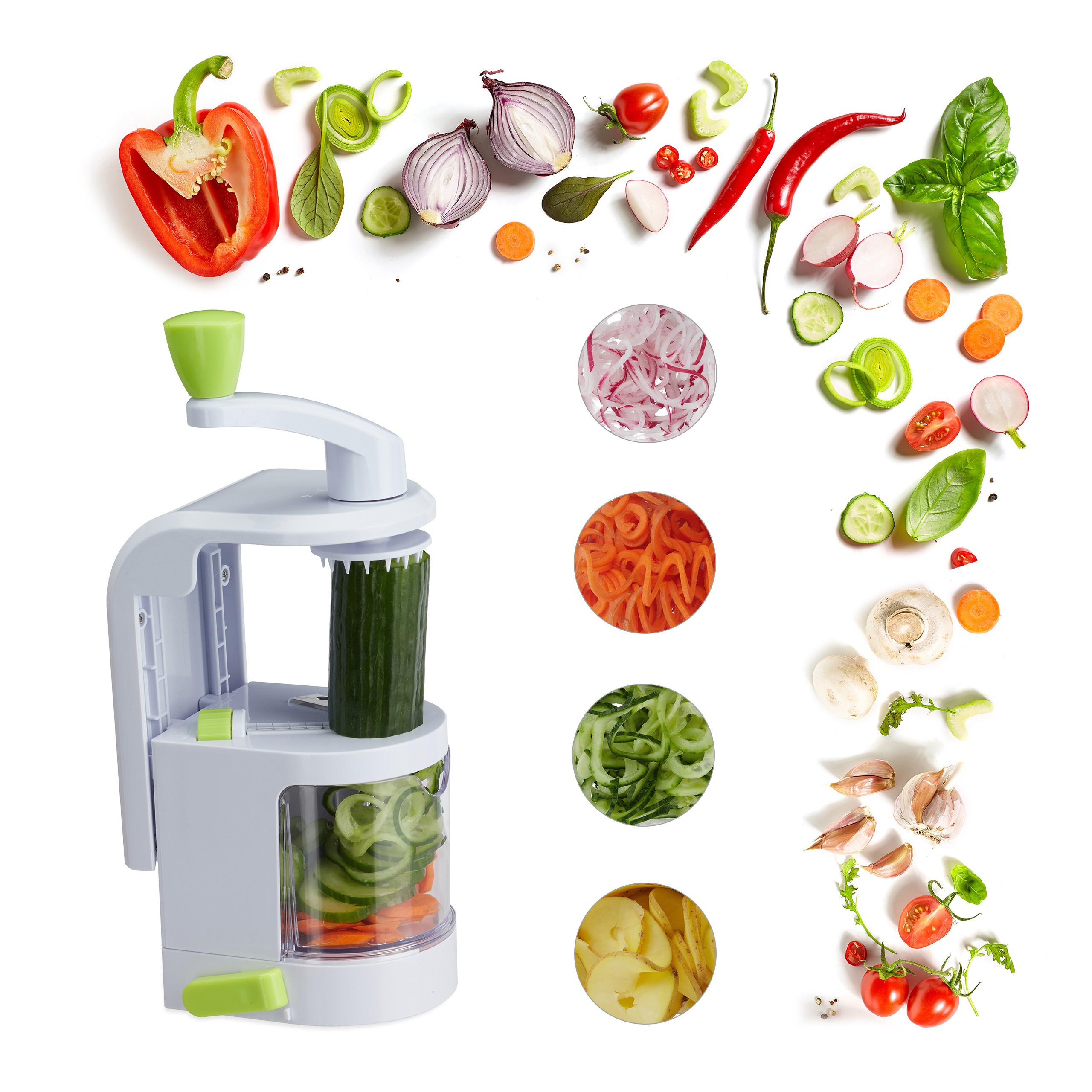 Gemüse Spiralschneider Kartoffelschneider 5 Klingen Julienneschneider Spiralizer