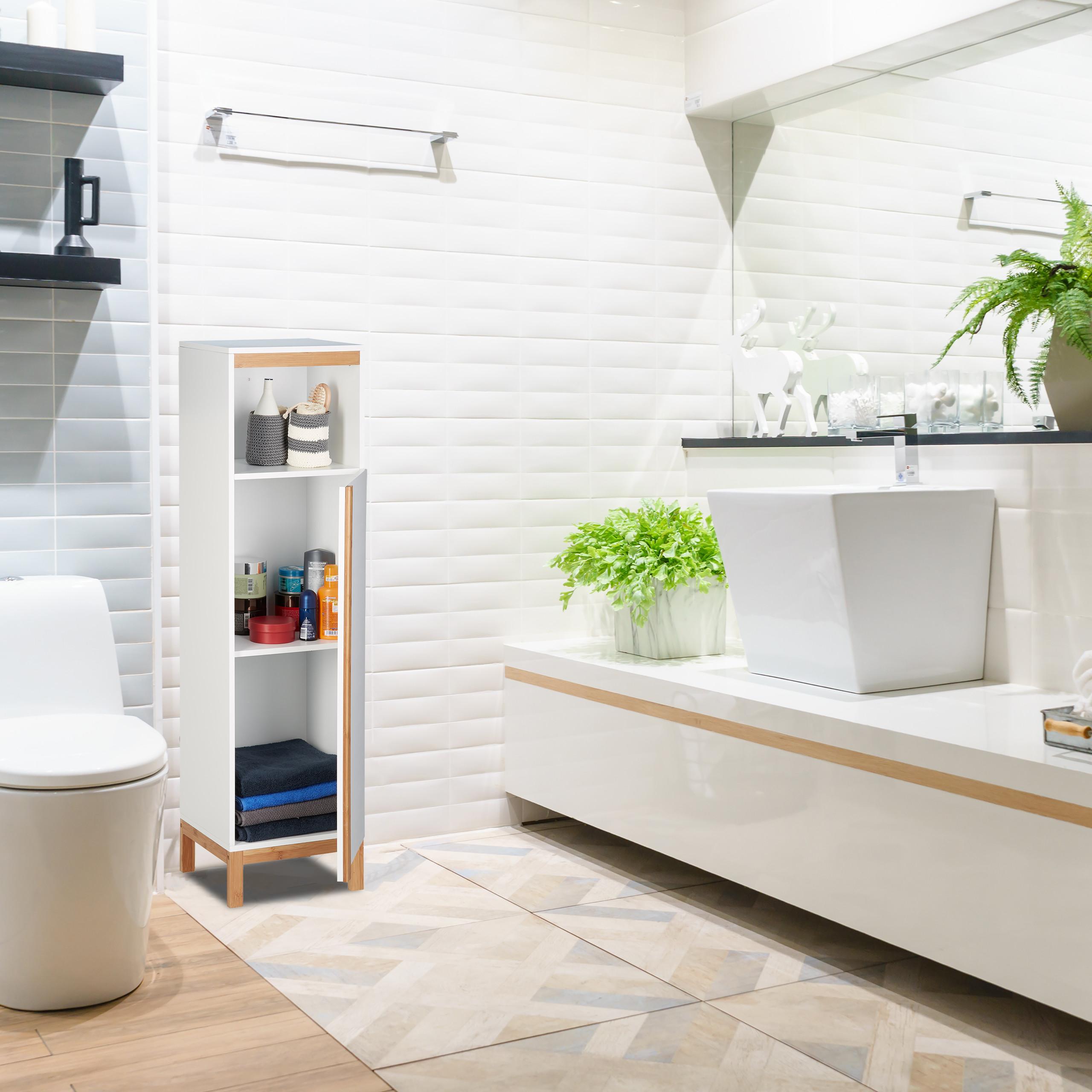 badezimmerschrank badschrank weiß midischrank badmöbel