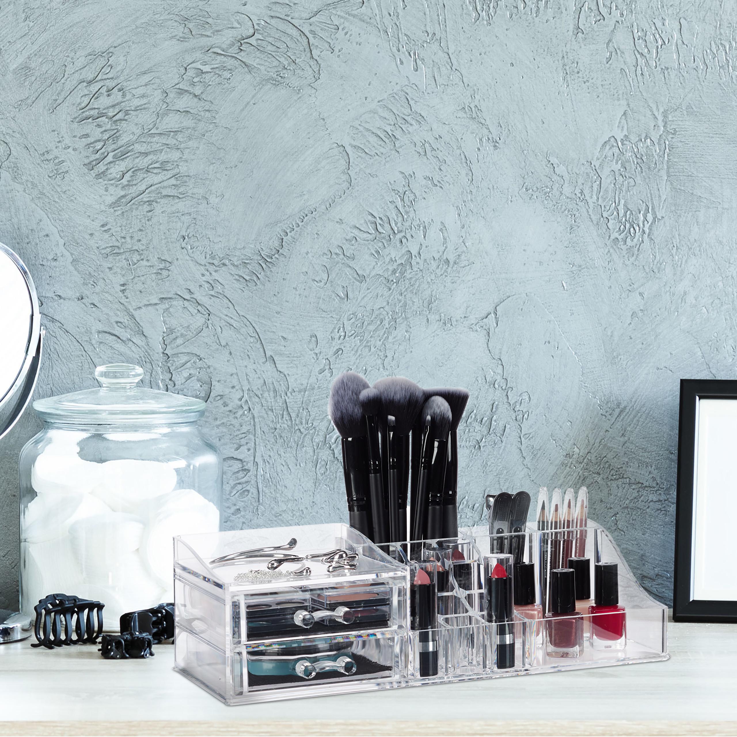 Make-Up-Organizer-Acrylbox-Lippenstifthalter-2-Schubladen-Schmuckaufbewahrung miniatuur 4
