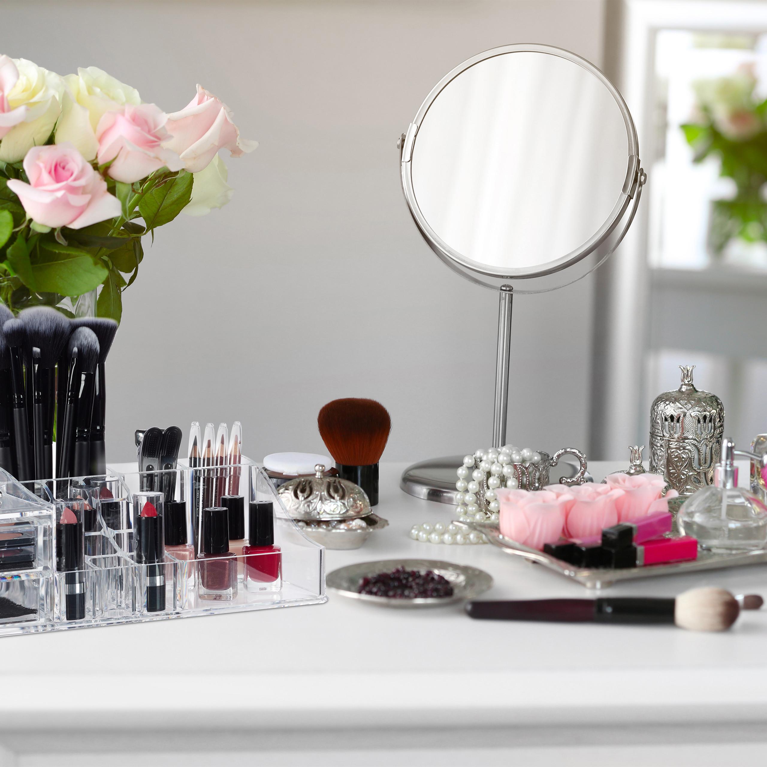 Make-Up-Organizer-Acrylbox-Lippenstifthalter-2-Schubladen-Schmuckaufbewahrung miniatuur 6