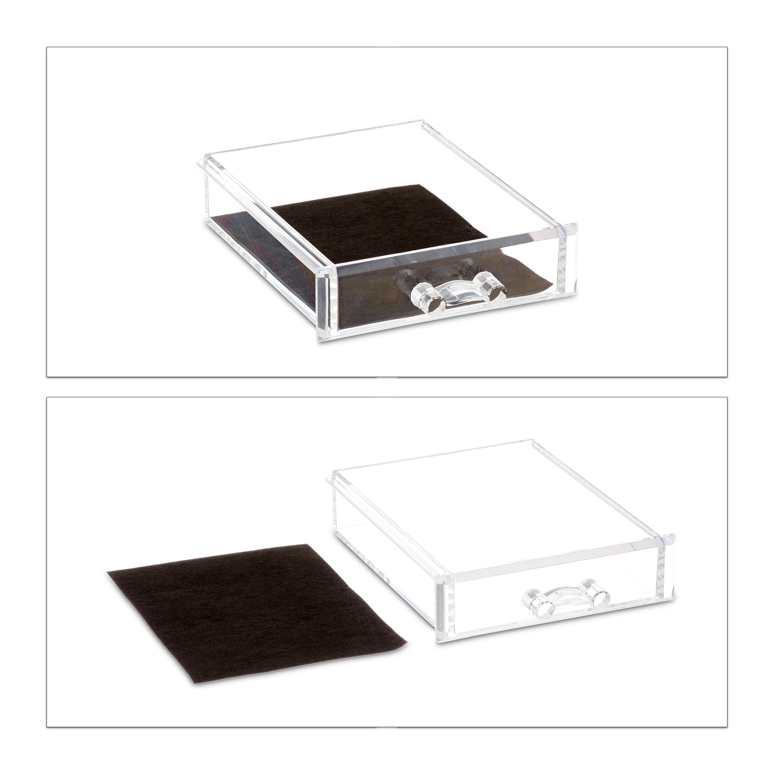 Make-Up-Organizer-Acrylbox-Lippenstifthalter-2-Schubladen-Schmuckaufbewahrung miniatuur 9