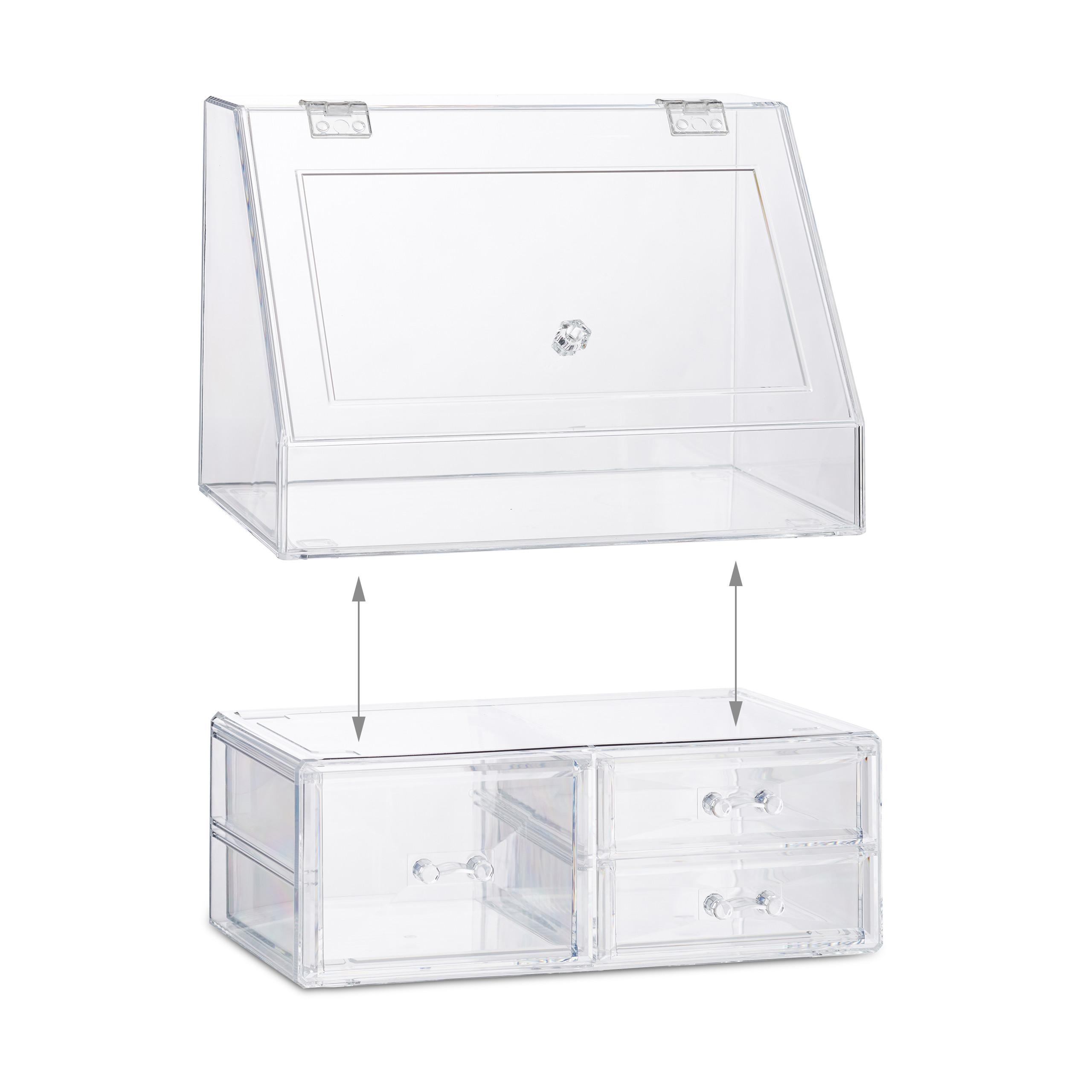 Kosmetik-Organizer-Acrylbox-Schmink-Aufbewahrung-Make-Up-Organizer-3-Schubladen miniatura 8