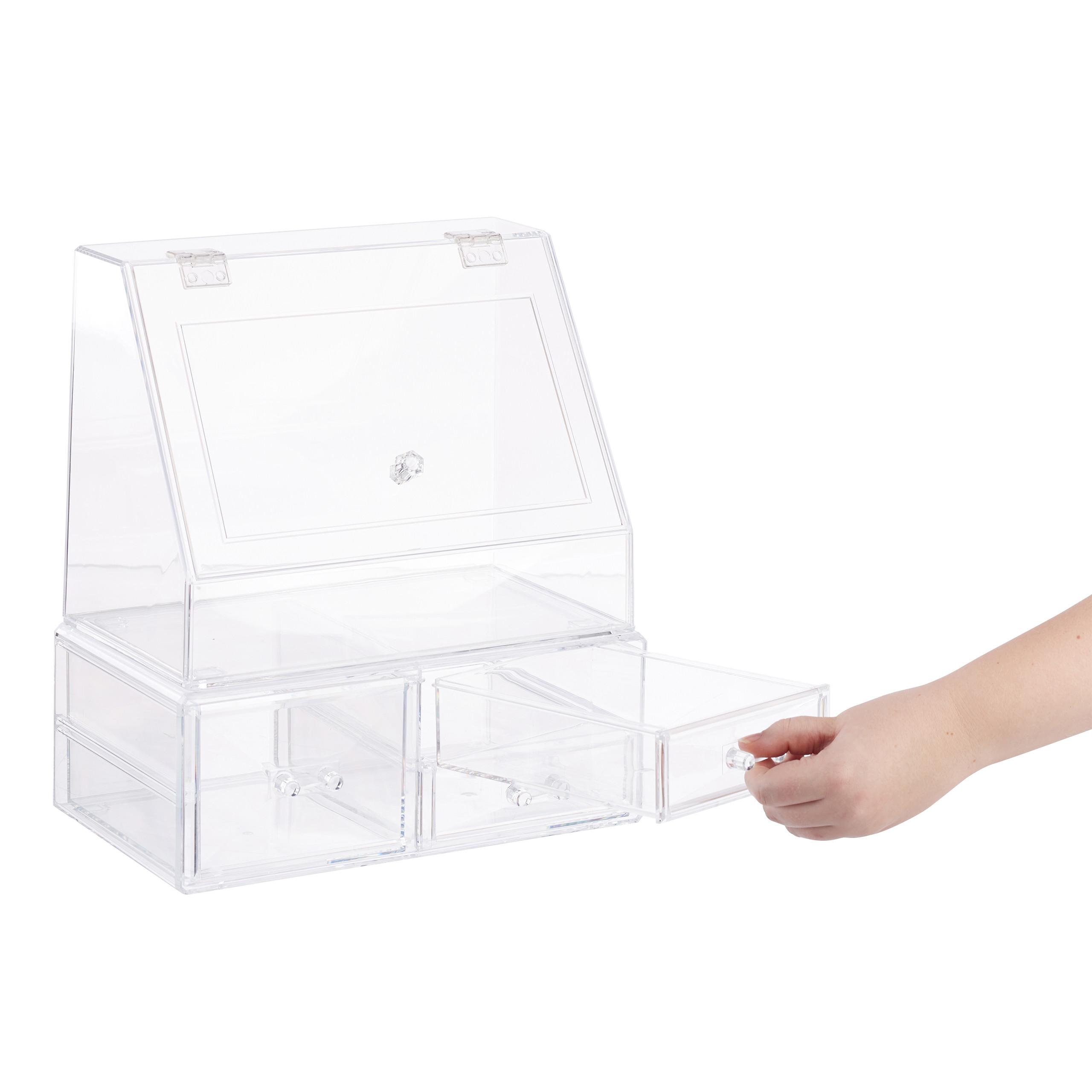 Kosmetik-Organizer-Acrylbox-Schmink-Aufbewahrung-Make-Up-Organizer-3-Schubladen miniatura 9