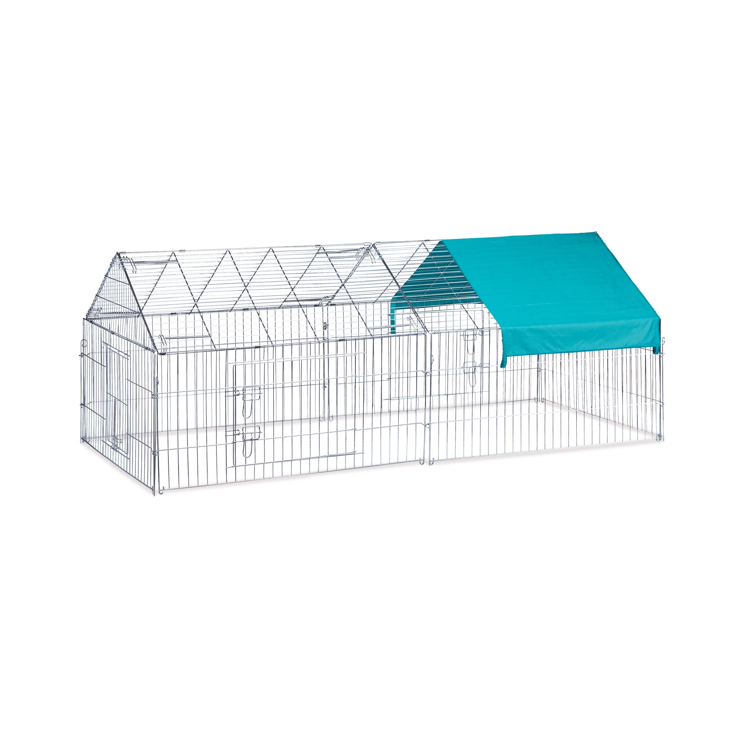 Freilaufgehege-Kaninchen-Huhner-Freigehege-Hasengehege-Huhnerauslauf-220cm-Stahl miniatuur 6