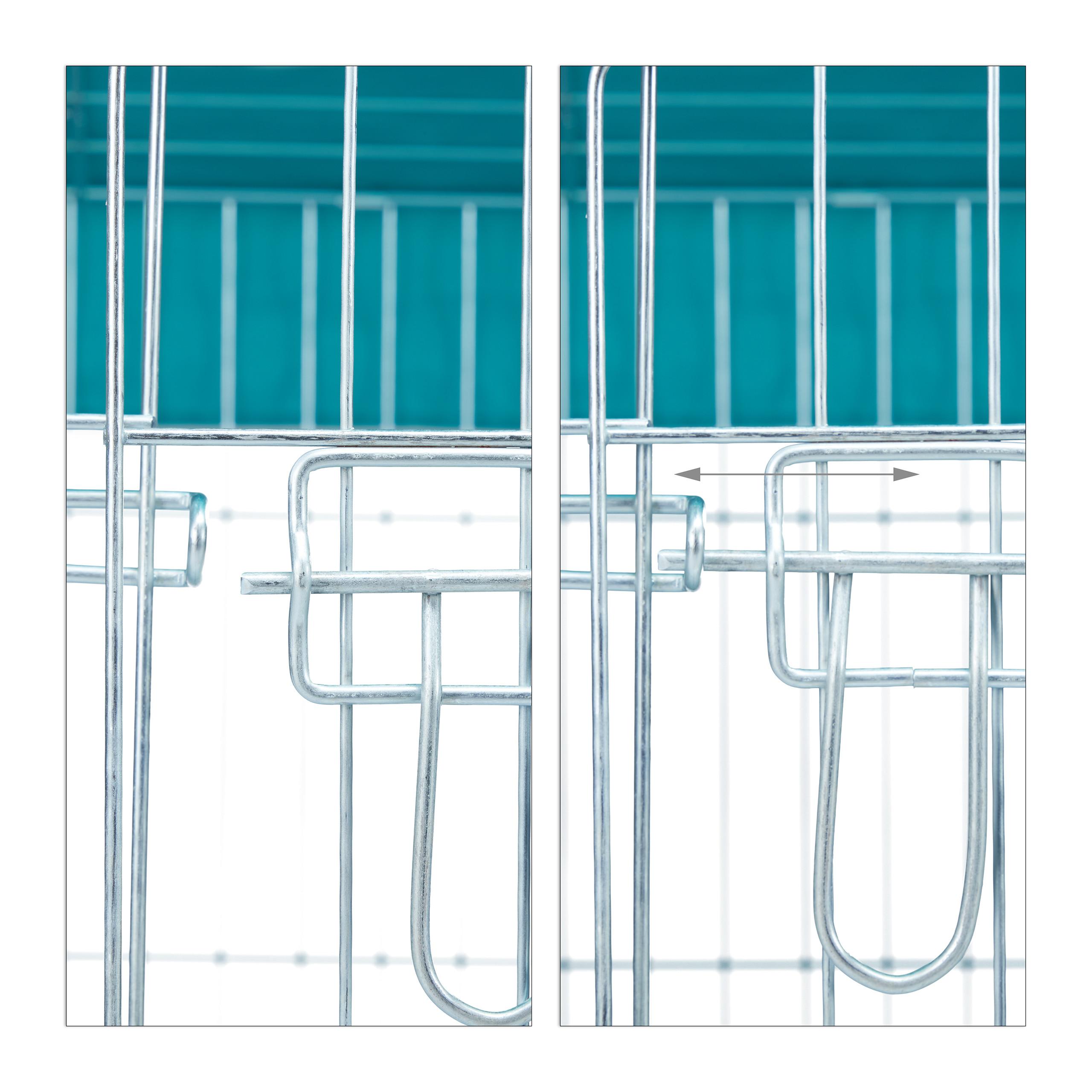 Freilaufgehege-Kaninchen-Huhner-Freigehege-Hasengehege-Huhnerauslauf-220cm-Stahl miniatuur 8