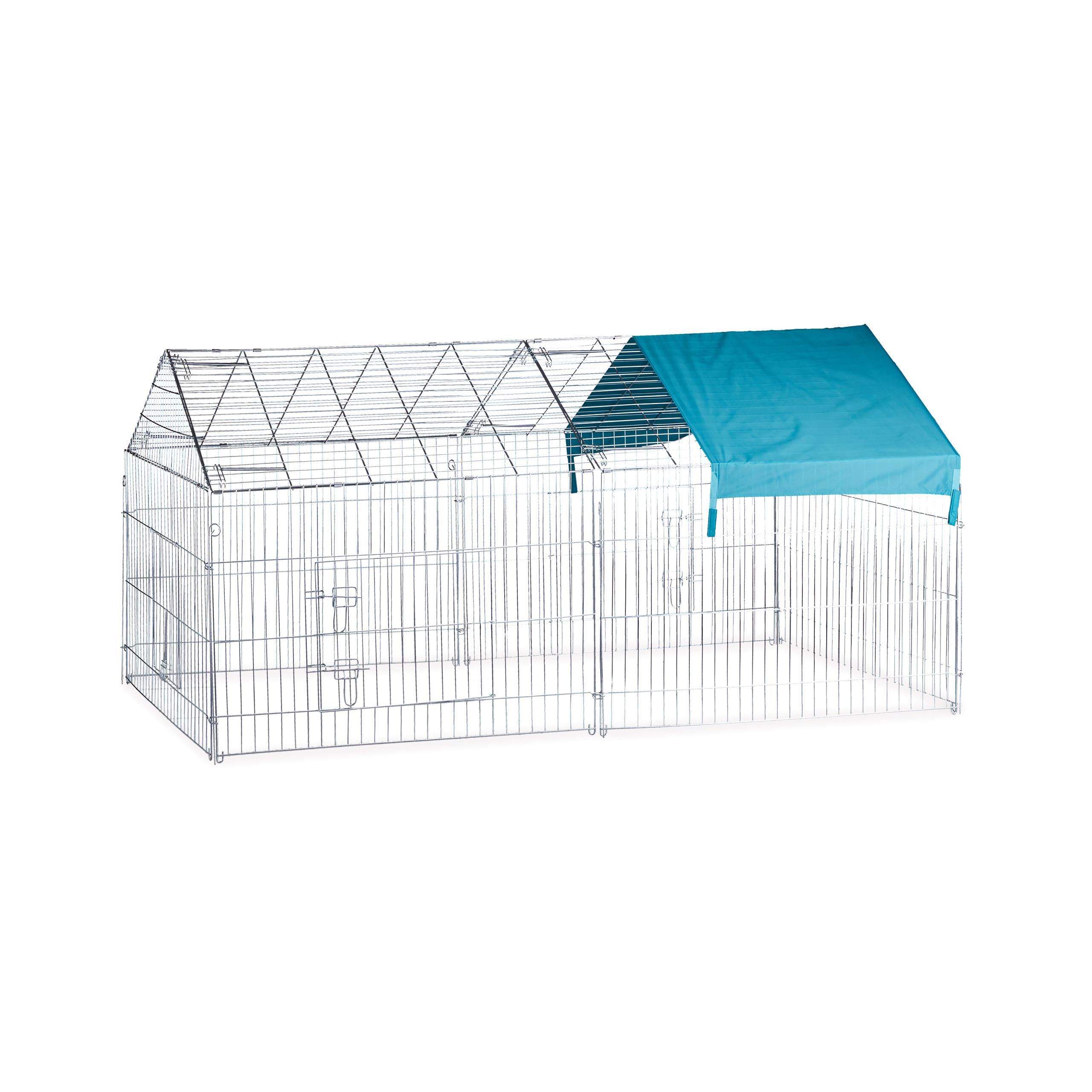 Freilaufgehege-Kaninchen-Huhner-Freigehege-Hasengehege-Huhnerauslauf-220cm-Stahl miniatuur 14