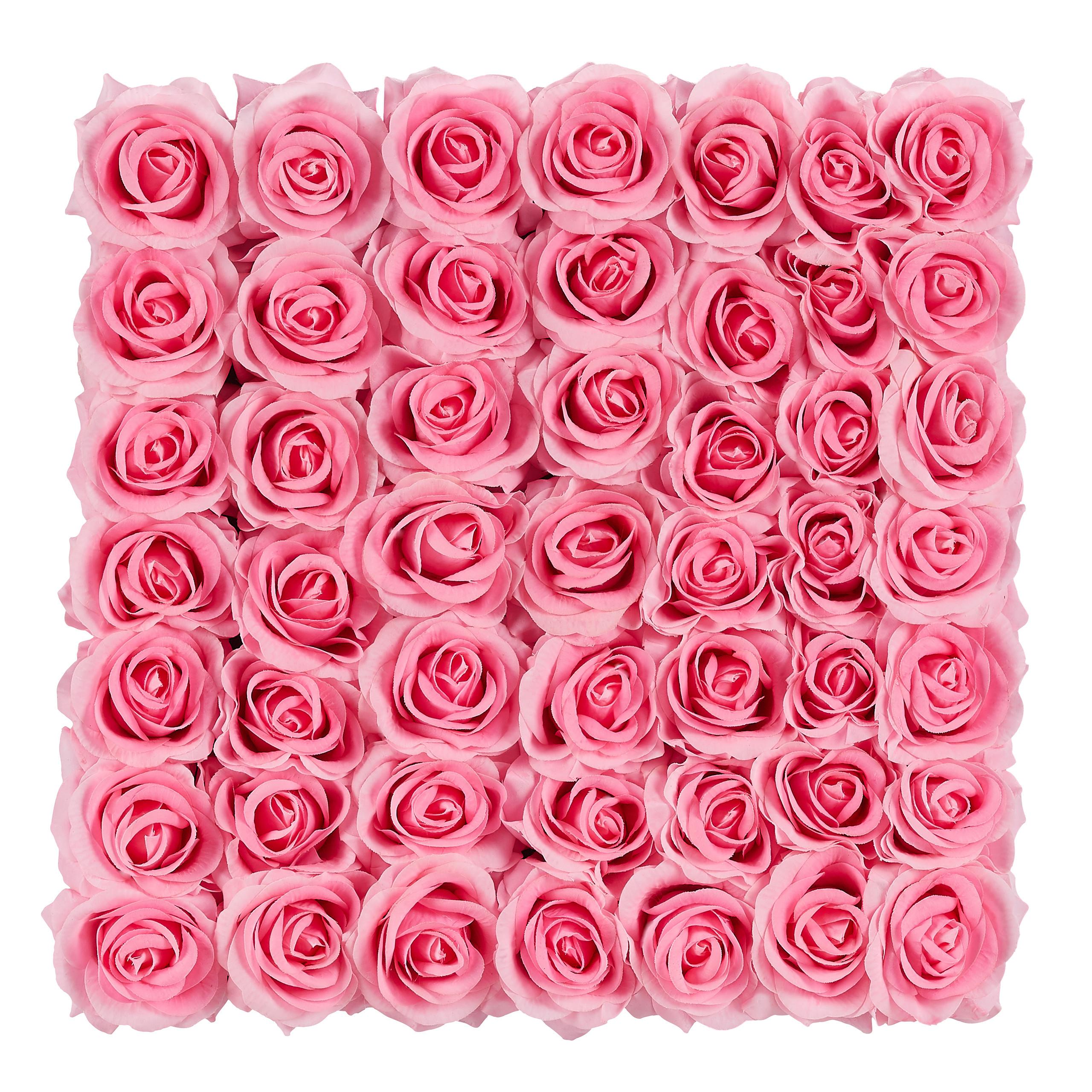 Rosenbox-Flowerbox-Ewige-Rosen-Blumenbox-49-Kunstblumen-eckig-Deko-Valentinstag Indexbild 3