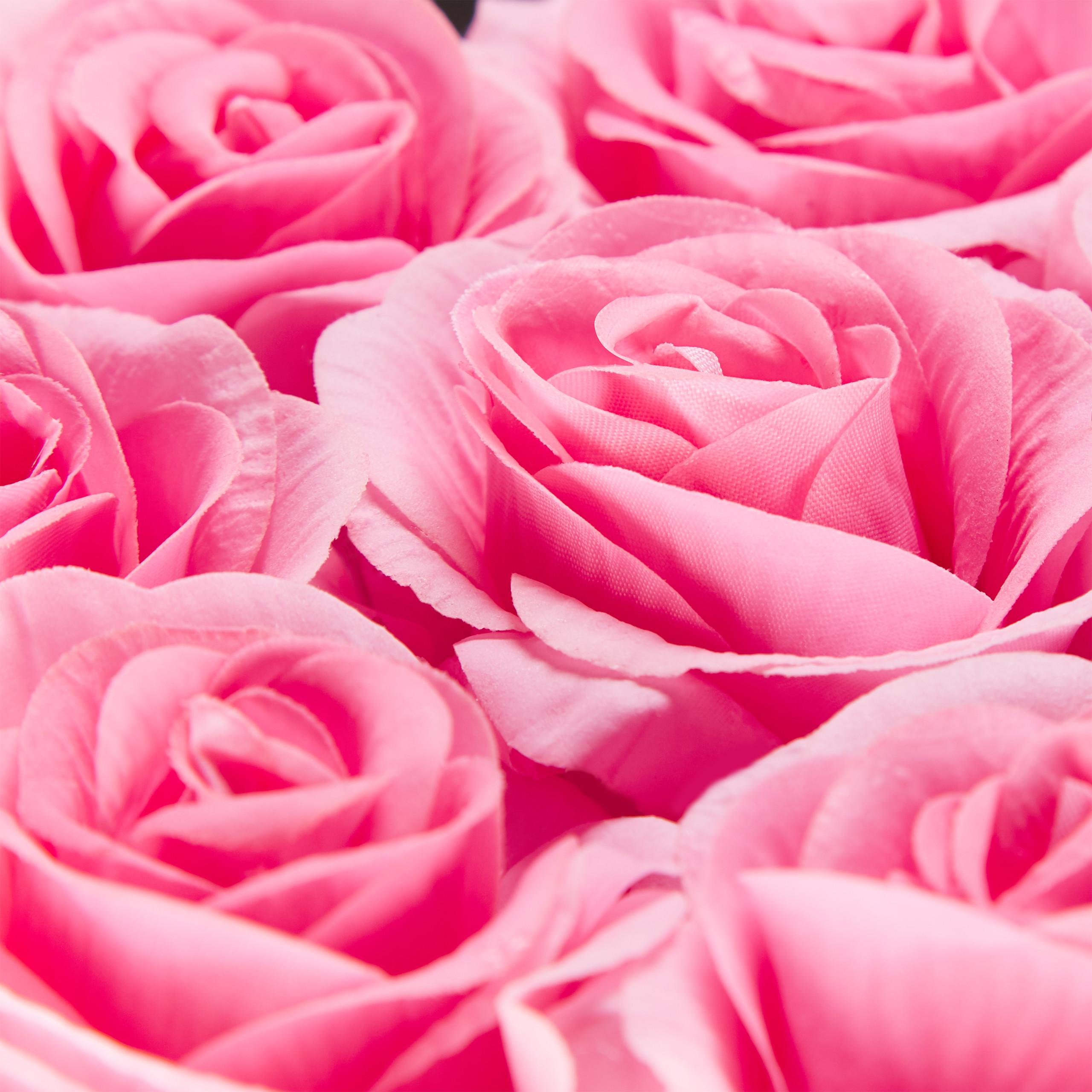 Rosenbox-Flowerbox-Ewige-Rosen-Blumenbox-49-Kunstblumen-eckig-Deko-Valentinstag Indexbild 8