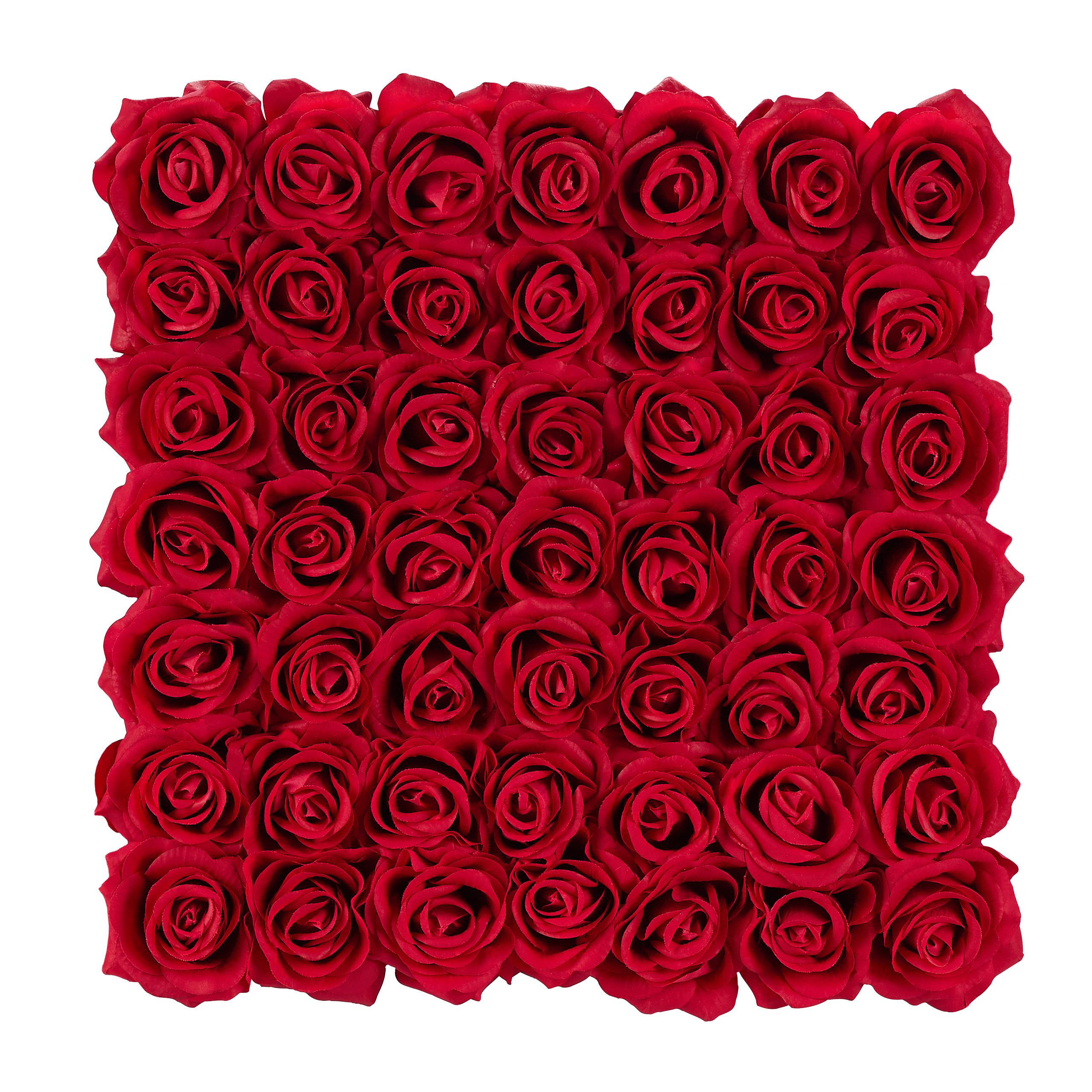 Rosenbox-Flowerbox-Ewige-Rosen-Blumenbox-49-Kunstblumen-eckig-Deko-Valentinstag Indexbild 11