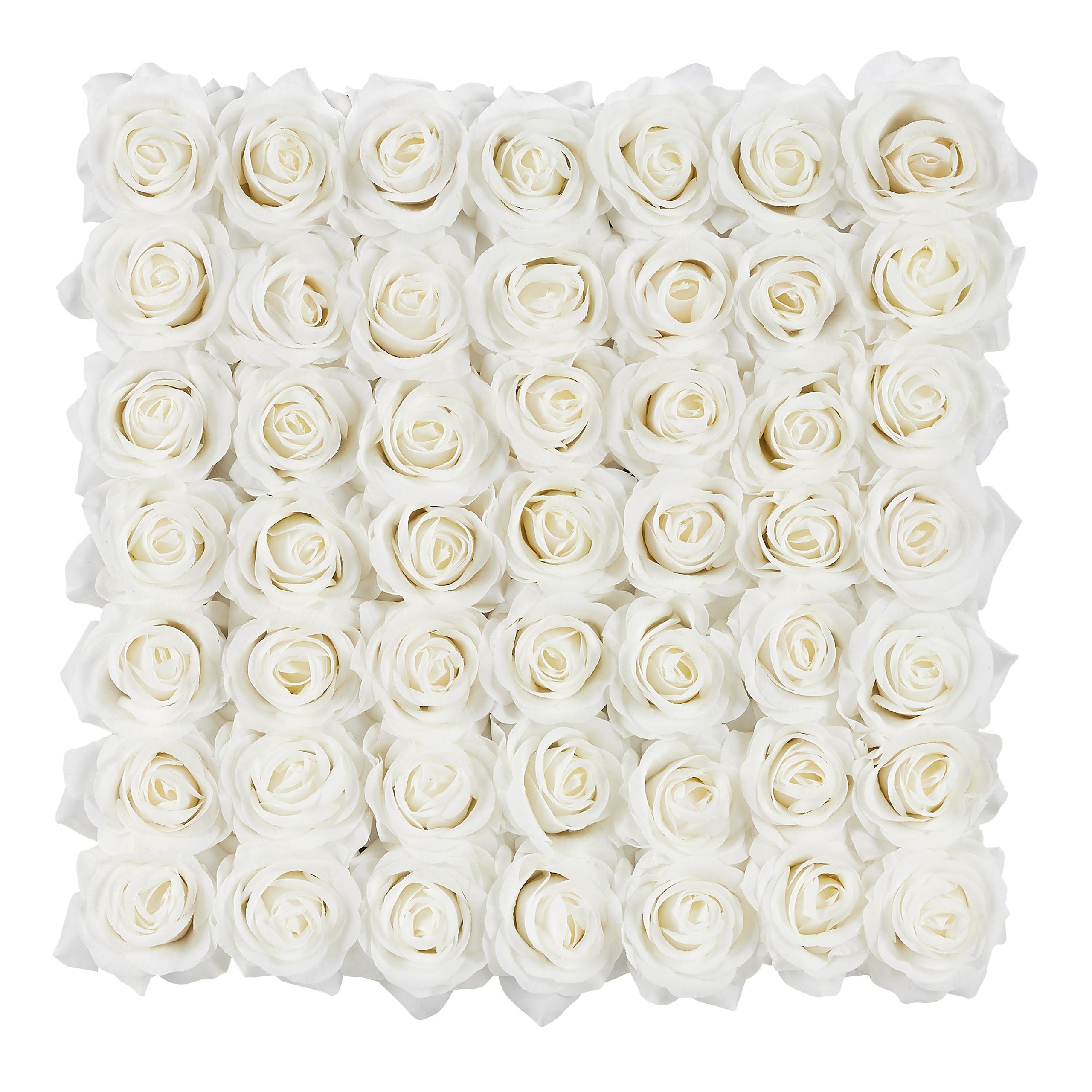 Rosenbox-Flowerbox-Ewige-Rosen-Blumenbox-49-Kunstblumen-eckig-Deko-Valentinstag Indexbild 19