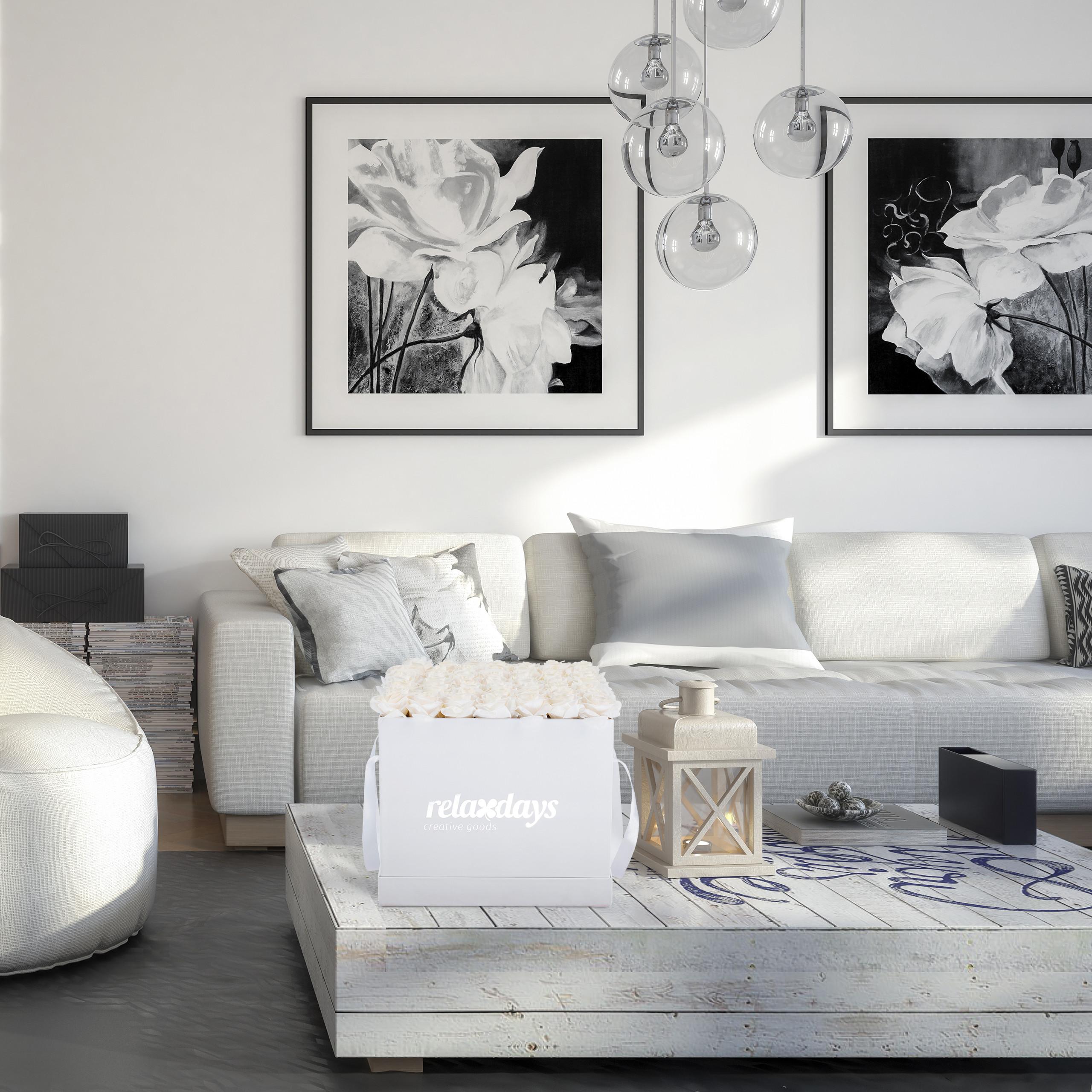 Rosenbox-Flowerbox-Ewige-Rosen-Blumenbox-49-Kunstblumen-eckig-Deko-Valentinstag Indexbild 20