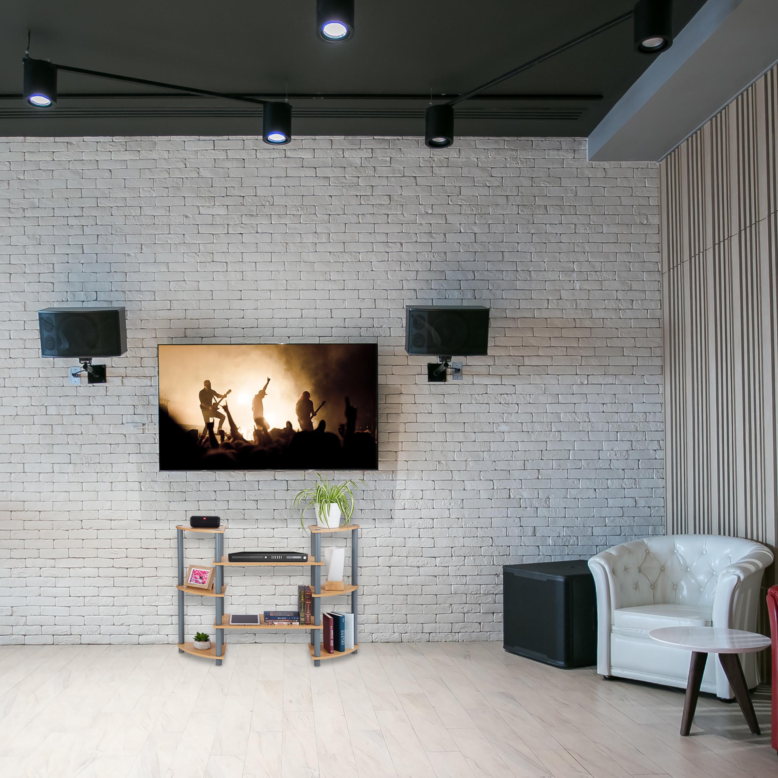 Details zu Regal Wohnzimmer, TV Regal, Bücherregal, Universalregal,  Standregal, 8 Ablagen