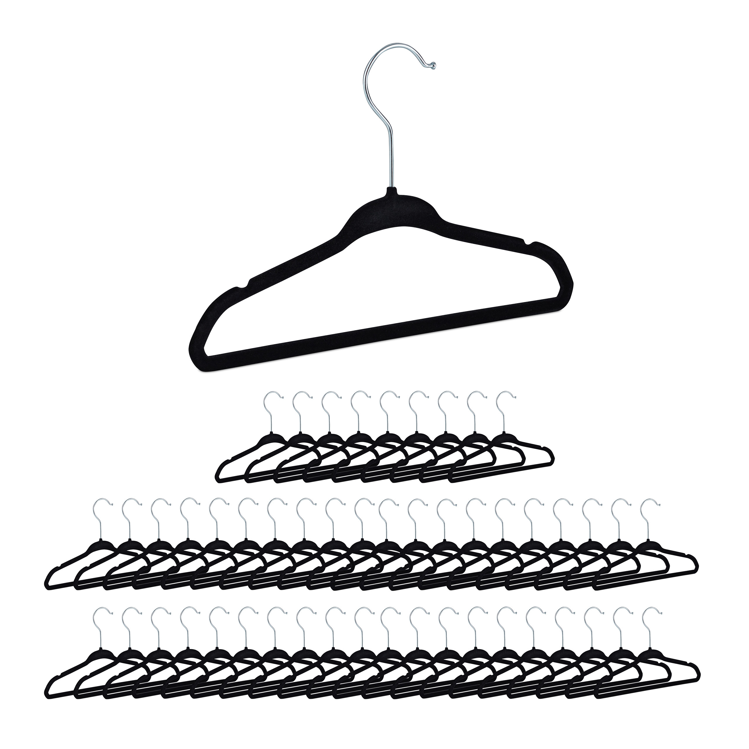 Platzspar Kleiderbügel Antirutsch Garderobenbügel Anzugbügel rutschhemmend SETs