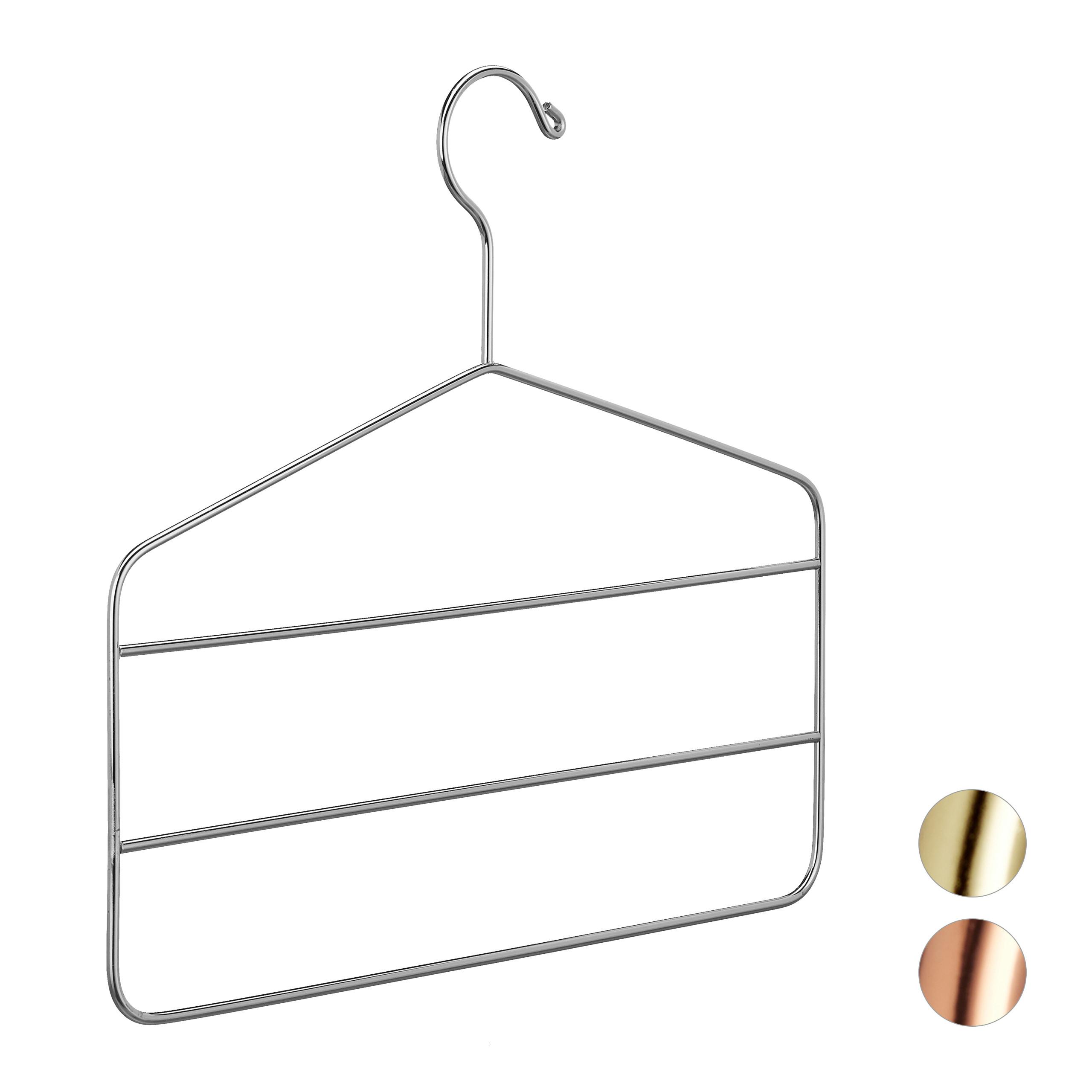 2 x Hosenbügel Metall Rockbügel silber Hosenkleiderbügel Kleiderbügel mehrfach