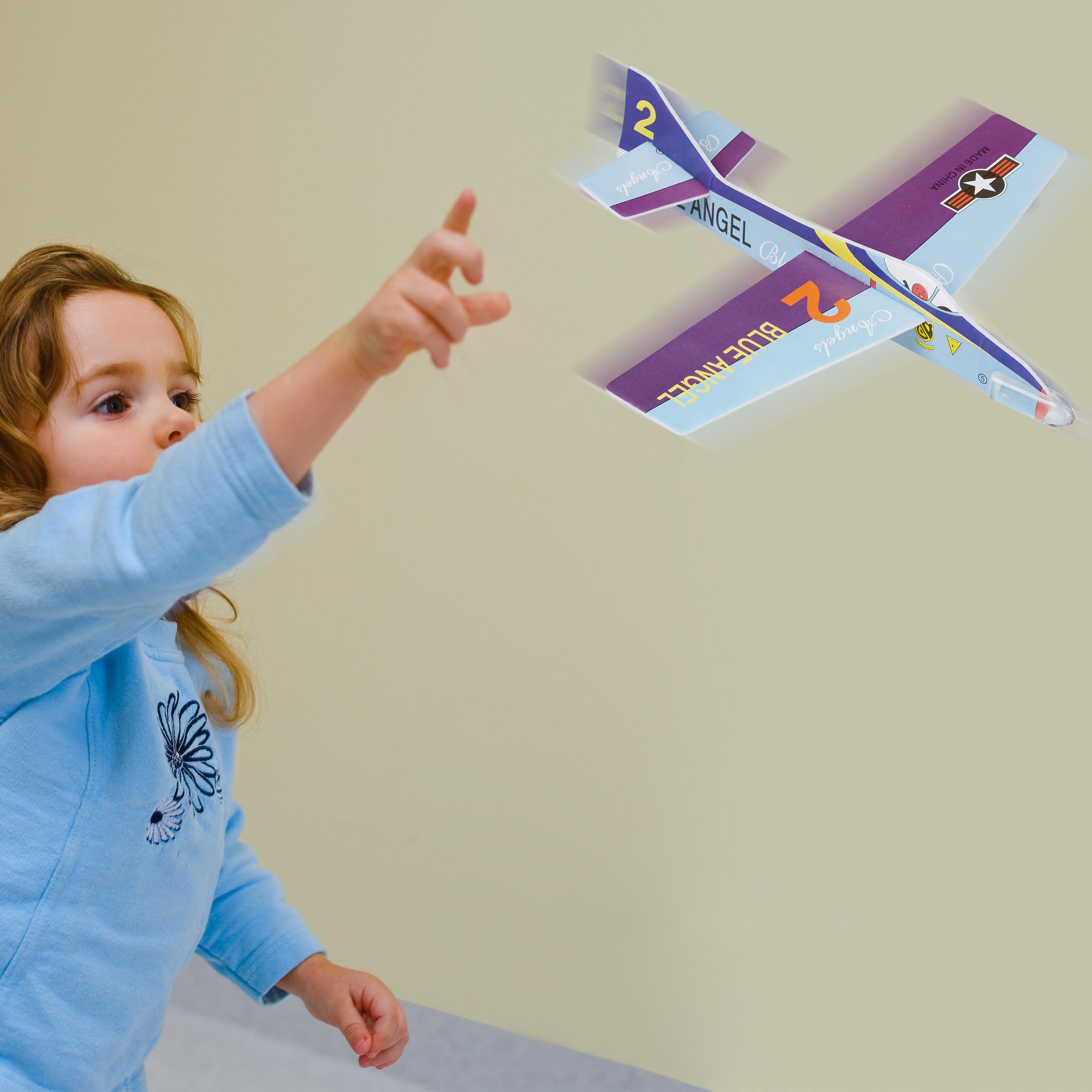 Styroporflieger Styropor Flugzeug Flieger 20cm gem Modelle Glider Spielzeug