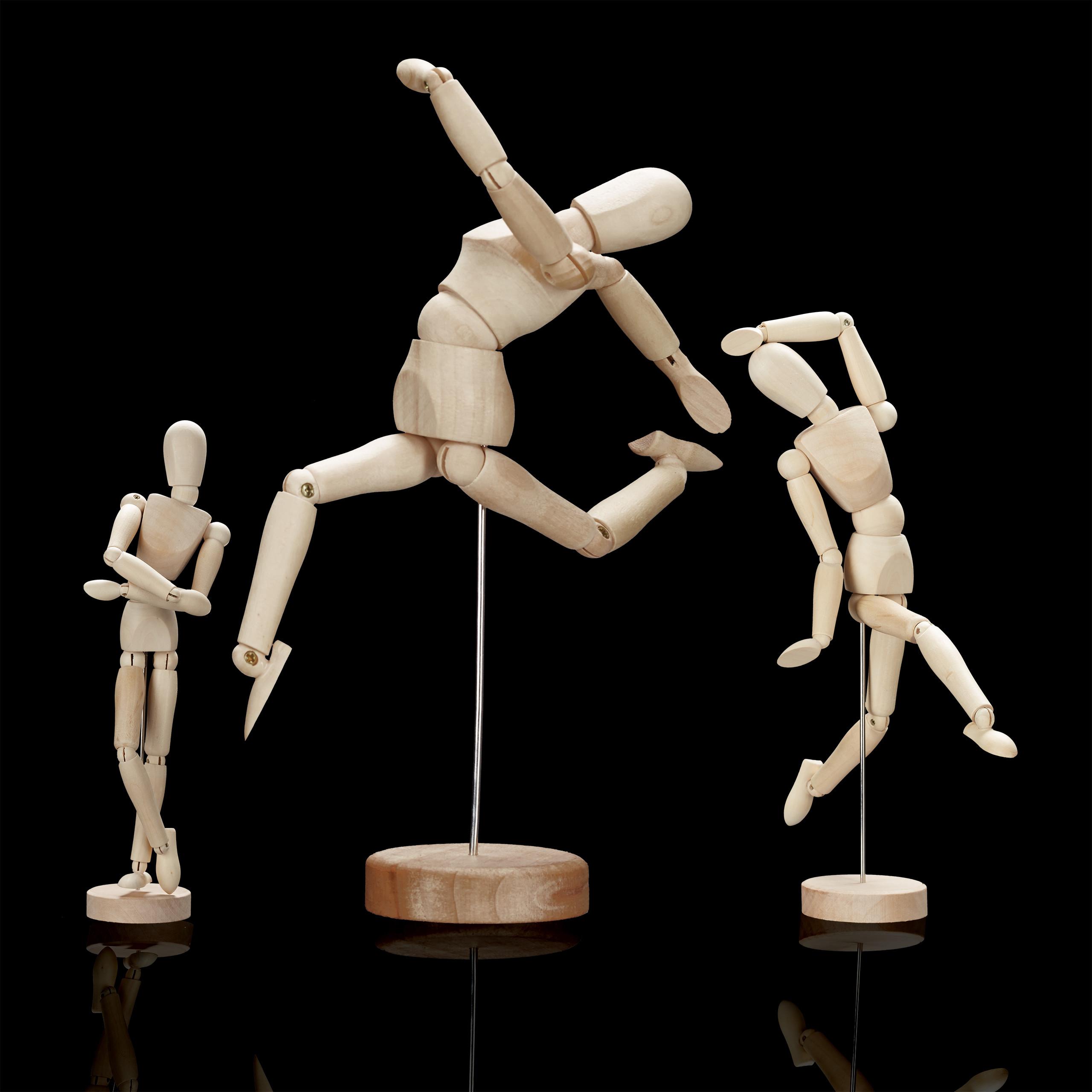 Gliederpuppe-Malhilfe-Malfigur-Holzpuppe-Modellpuppe-Zeichenpuppe-Gelenkpuppe Indexbild 4