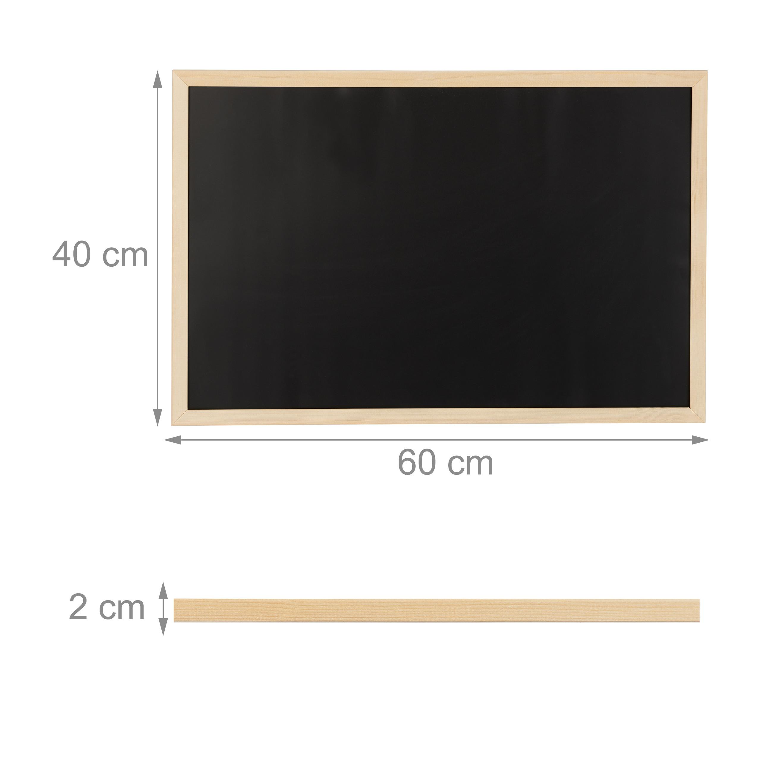 Kreidetafel mit Holzrahmen Tafel Blackboard Office Büro Organizer Notiztafel