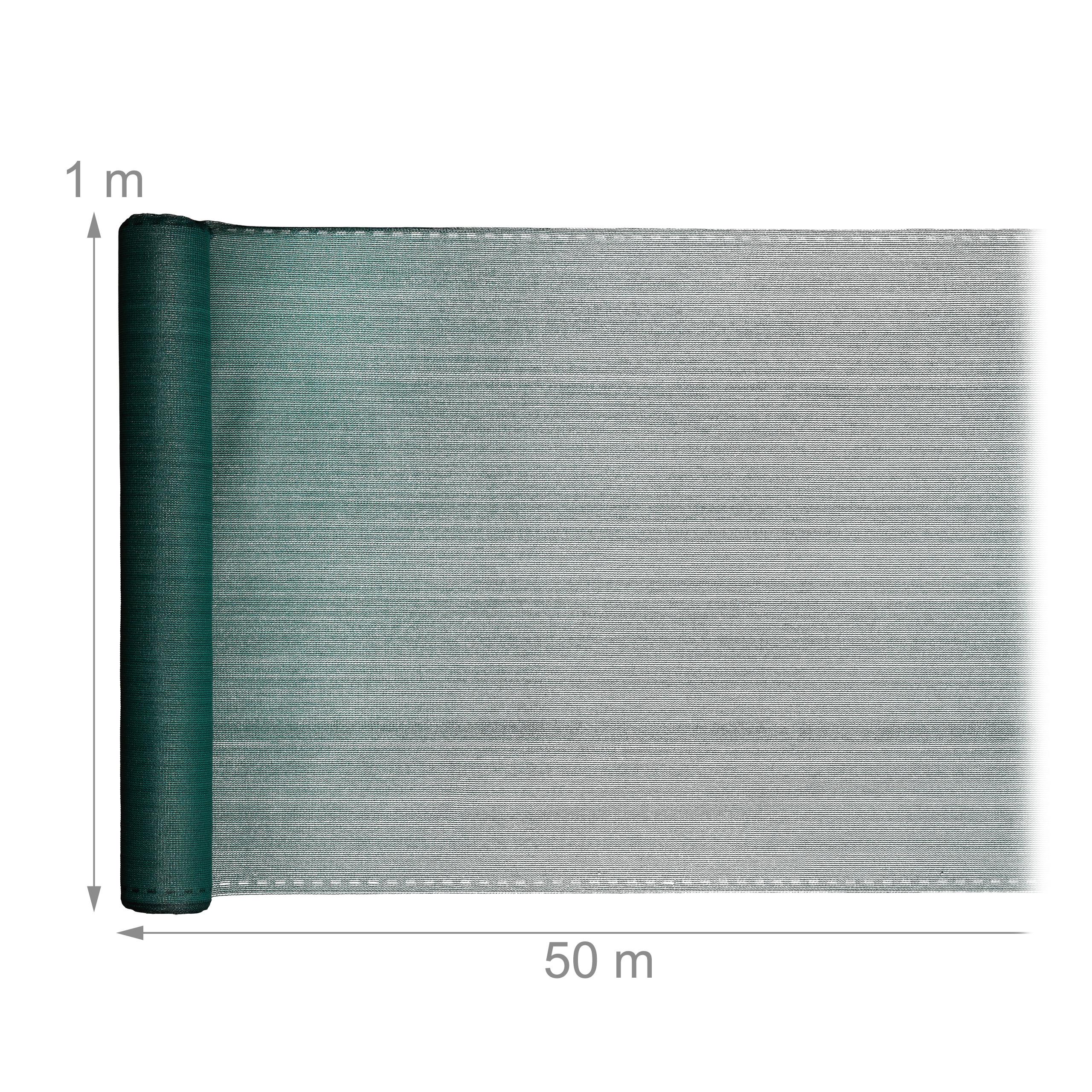 Indexbild 10 - Zaunblende grün 1m hoch, Sichtschutz Gartenzaun, Zaunsichtschutz, HDPE 150g/m²
