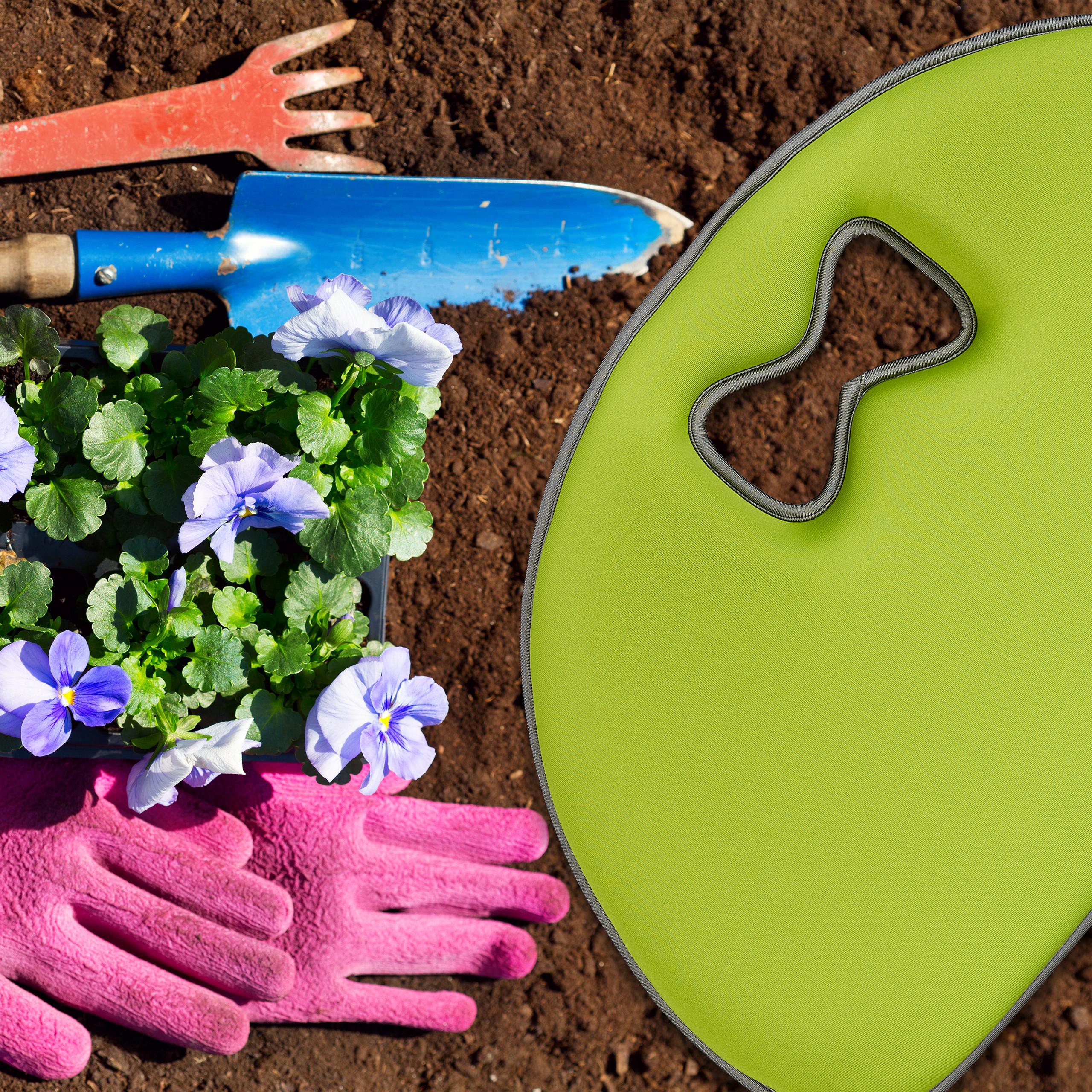 2 x Kniekissen Garten Kniehilfe Knieunterlage Mehrzweckkissen Kniebrett hellgrün