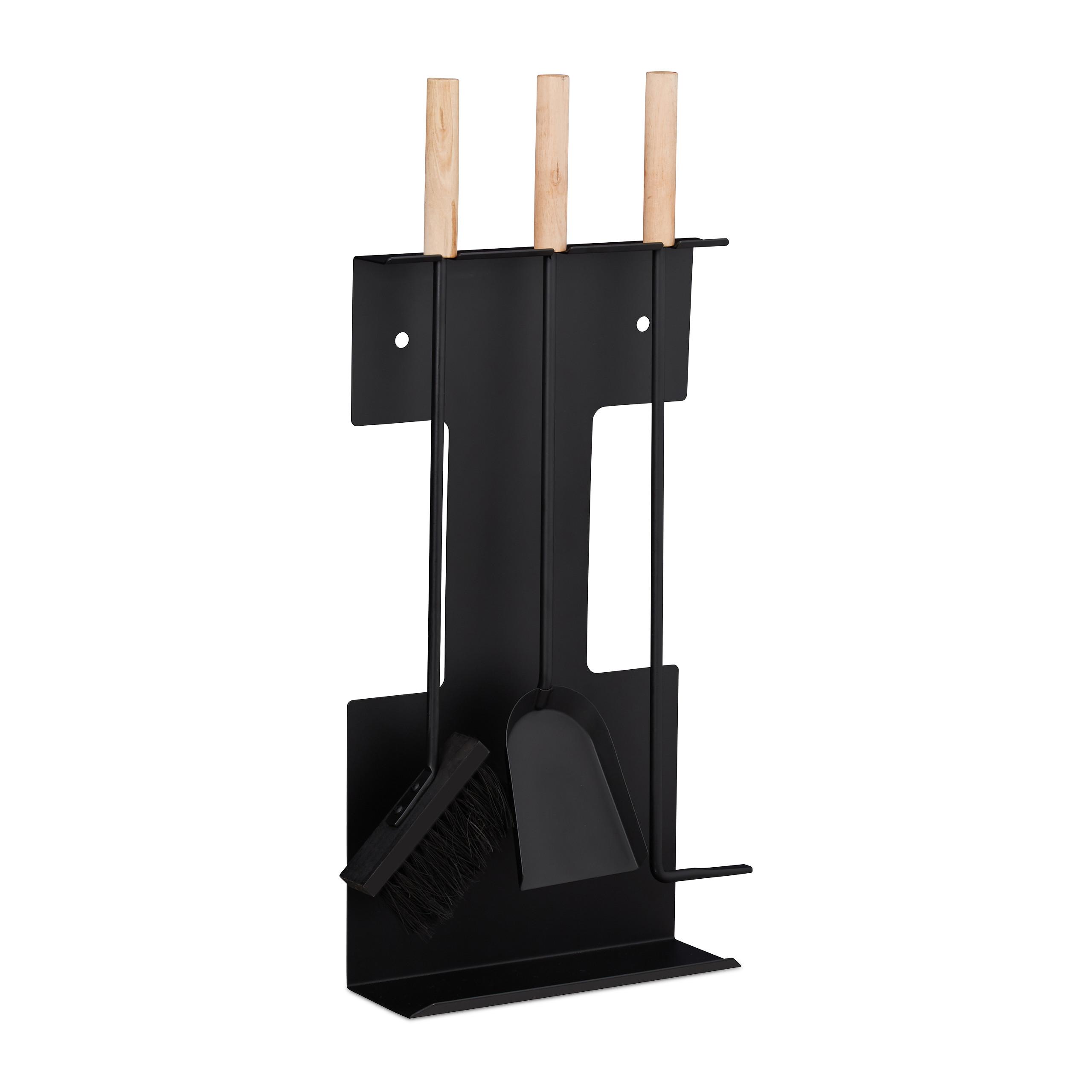 Kaminbesteck Kamingarnitur Kaminzubehör aus Messing 70cm Höhe 5-teiliges Set
