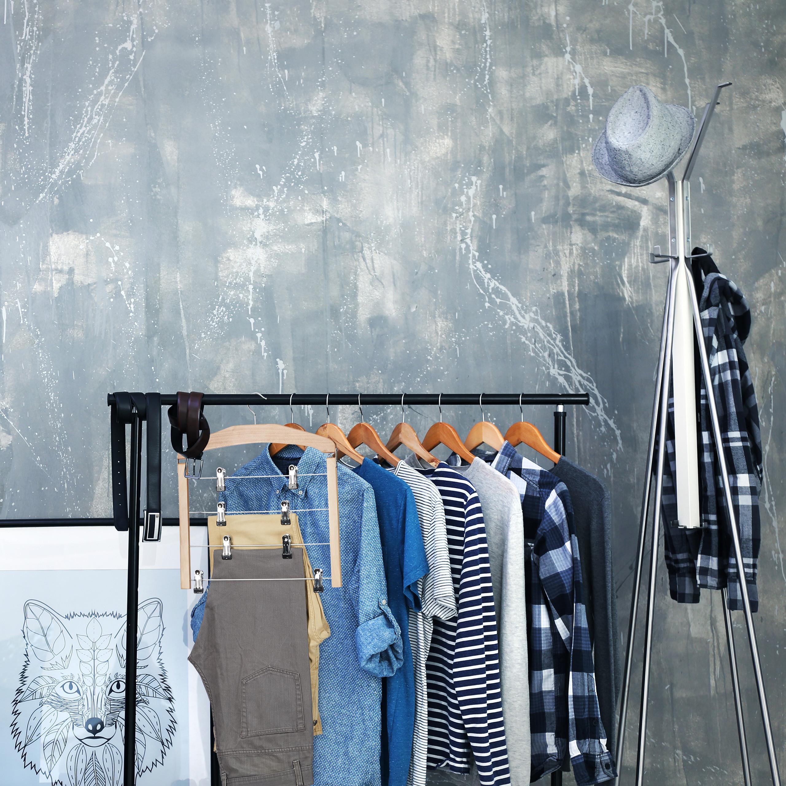 5 x Rockbügel mehrfach Clipbügel Kleiderbügel Klammern Mehrfachbügel Hosen