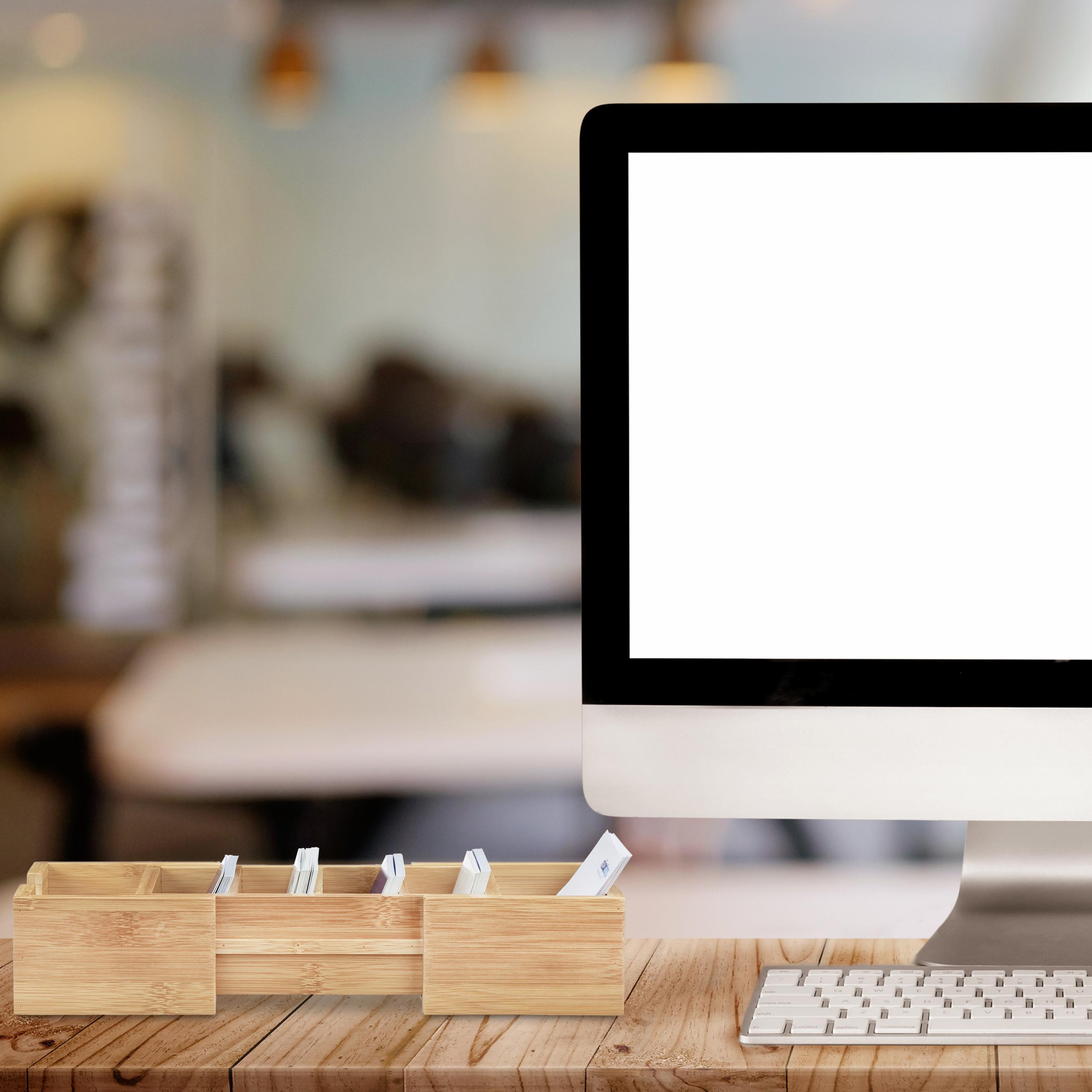 Karteikasten-DIN-A8-Holz-natuerlich-Karteikartensystem-Lernbox-Visitenkartenbox Indexbild 6