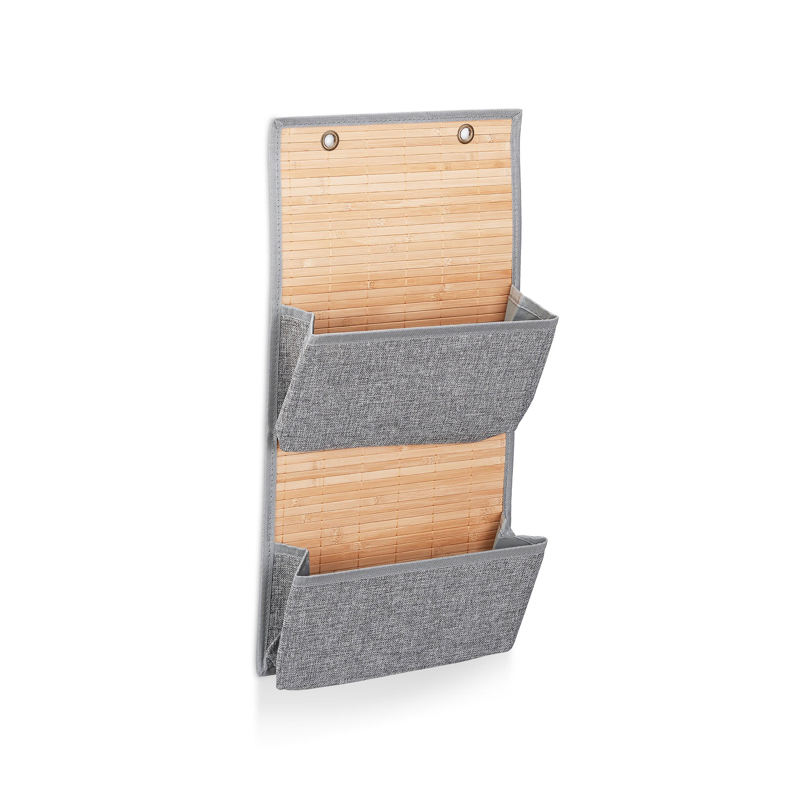 miniatura 5 - Tasca portaoggetti da parete, bagno, cameretta, guardaroba, pieghevole, grigio