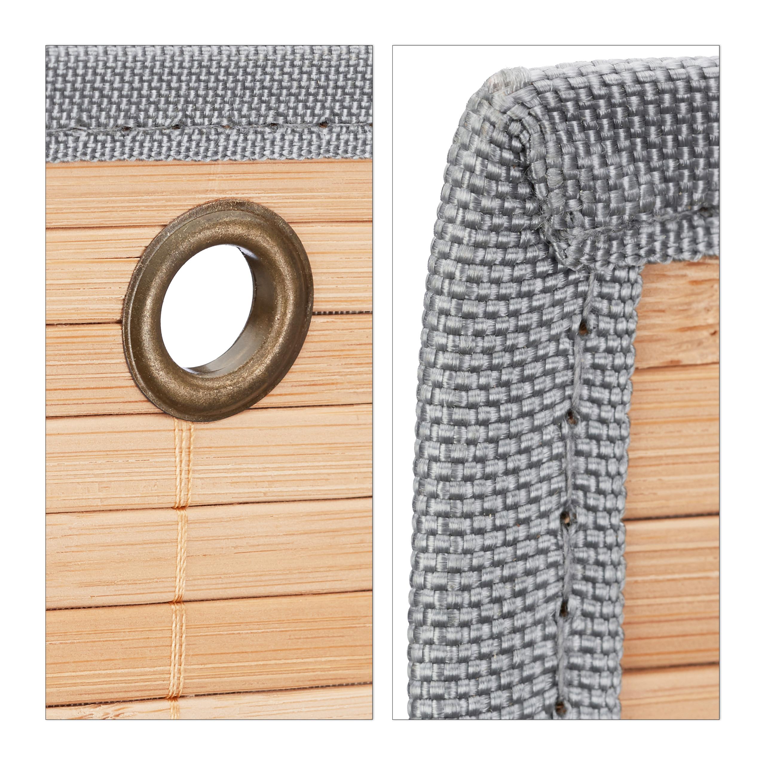 miniatura 6 - Tasca portaoggetti da parete, bagno, cameretta, guardaroba, pieghevole, grigio