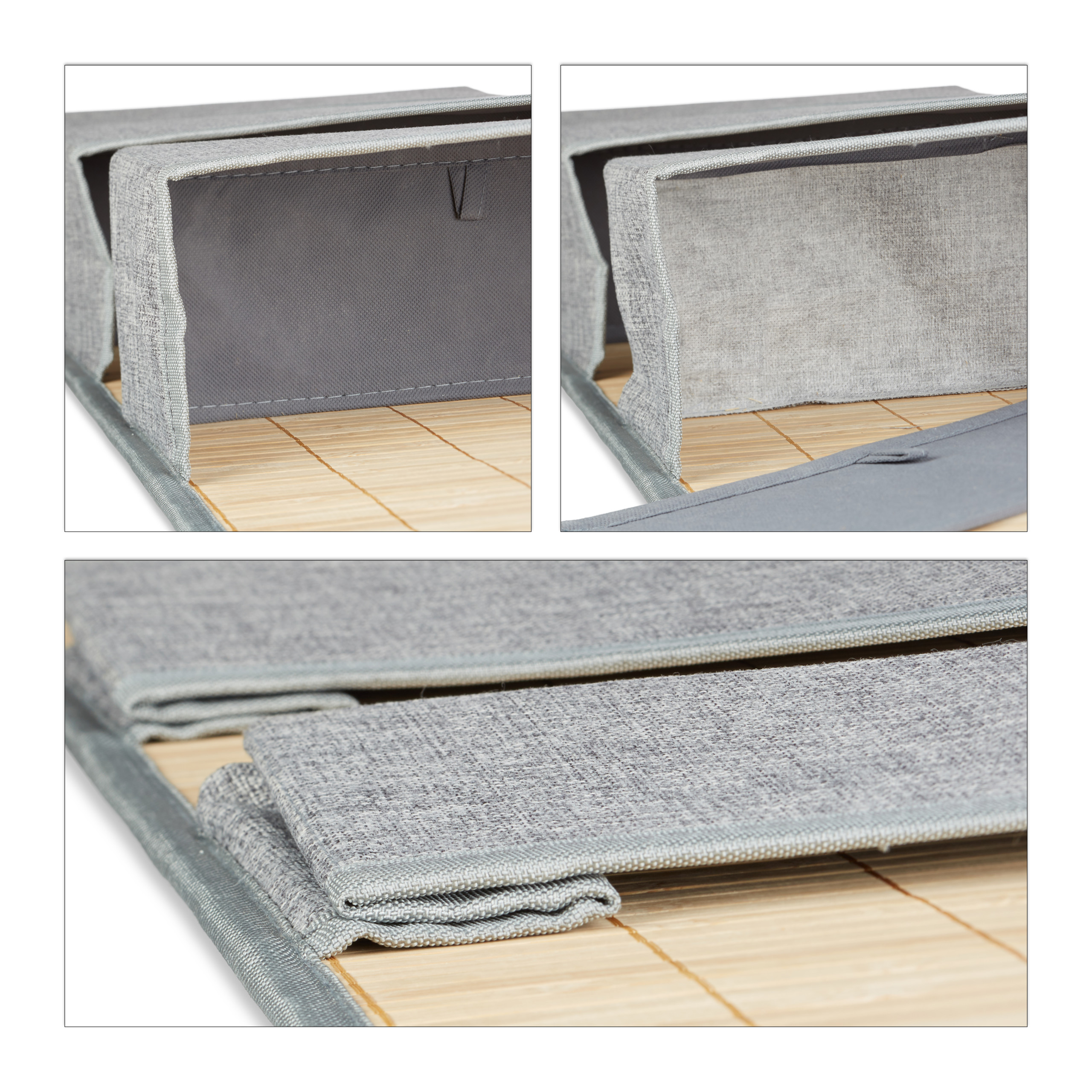 miniatura 8 - Tasca portaoggetti da parete, bagno, cameretta, guardaroba, pieghevole, grigio