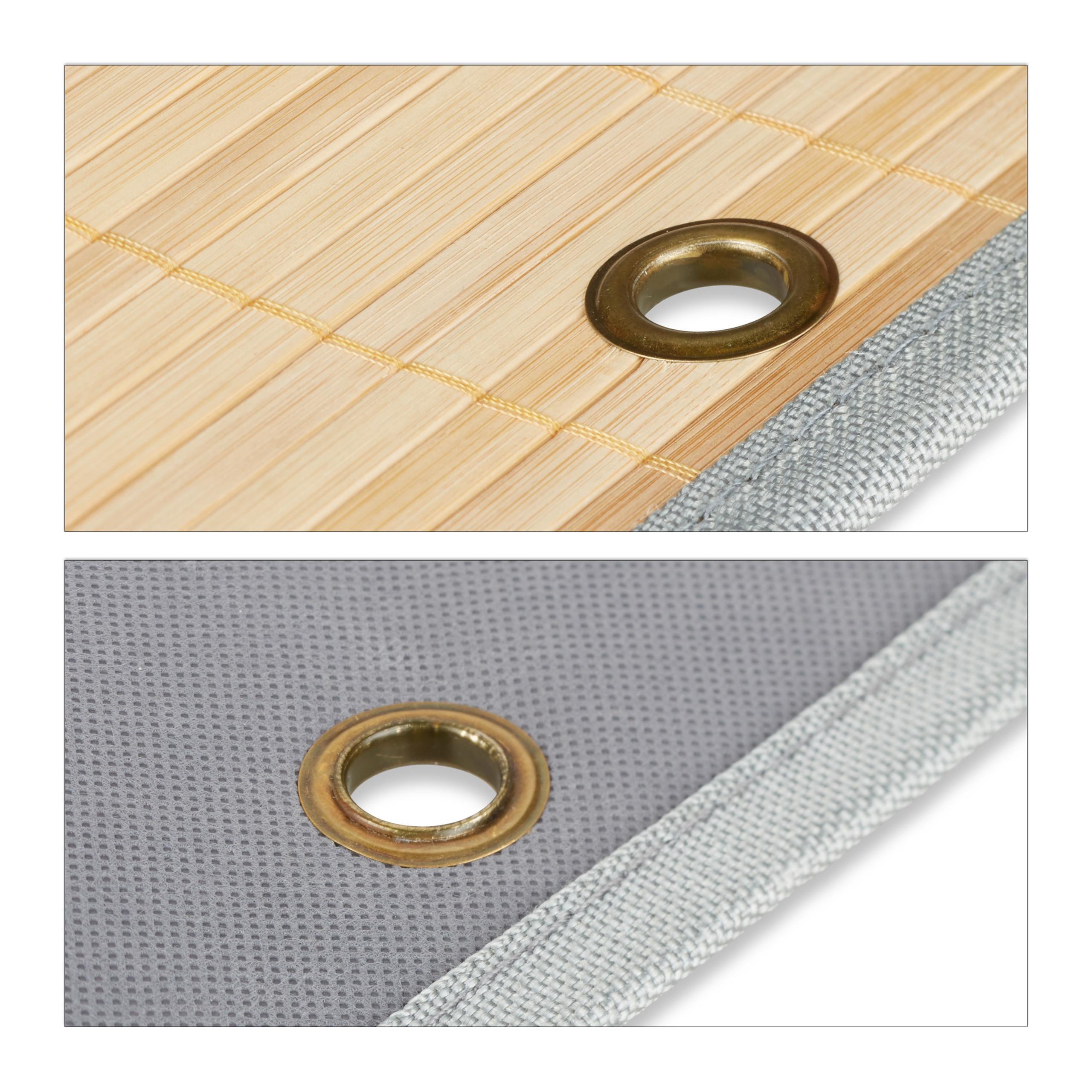 miniatura 9 - Tasca portaoggetti da parete, bagno, cameretta, guardaroba, pieghevole, grigio