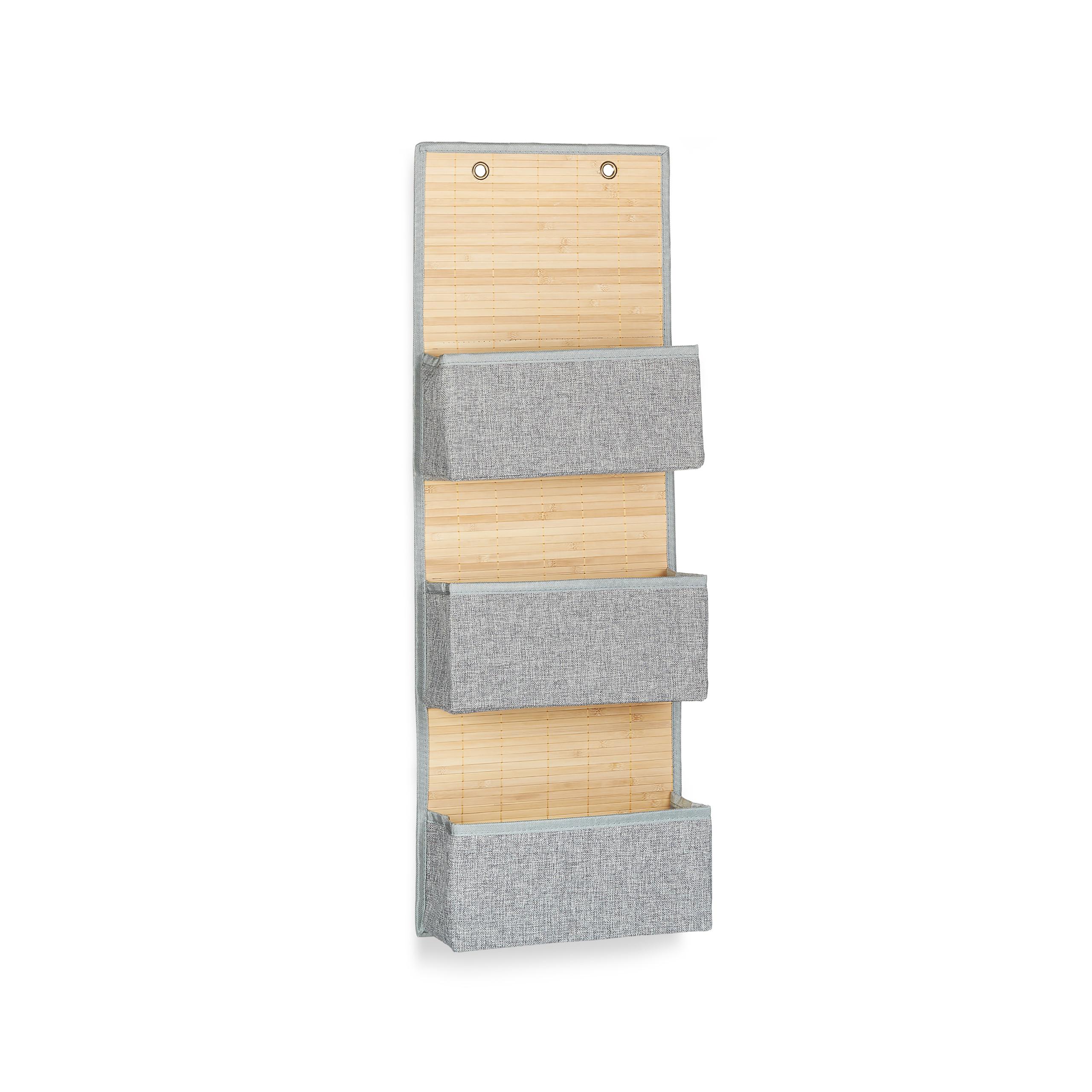 miniatura 13 - Tasca portaoggetti da parete, bagno, cameretta, guardaroba, pieghevole, grigio