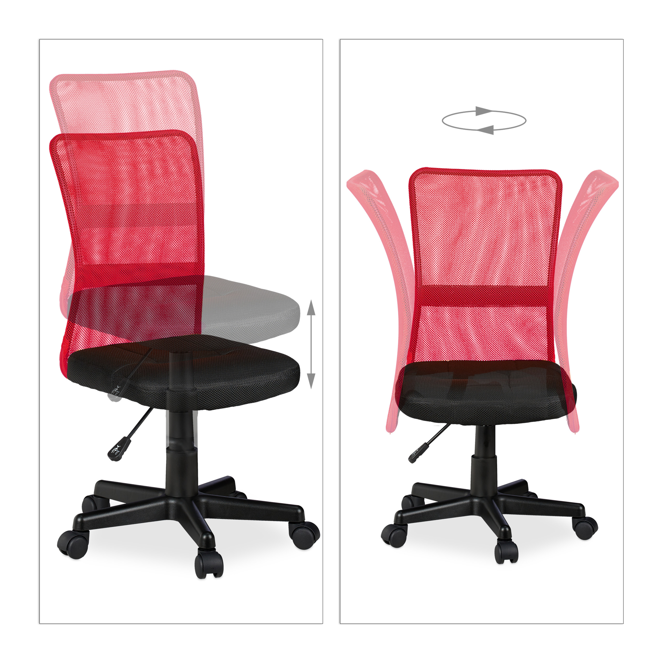 Sedia da ufficio girevole poltrona da scrivania ergonomica ...