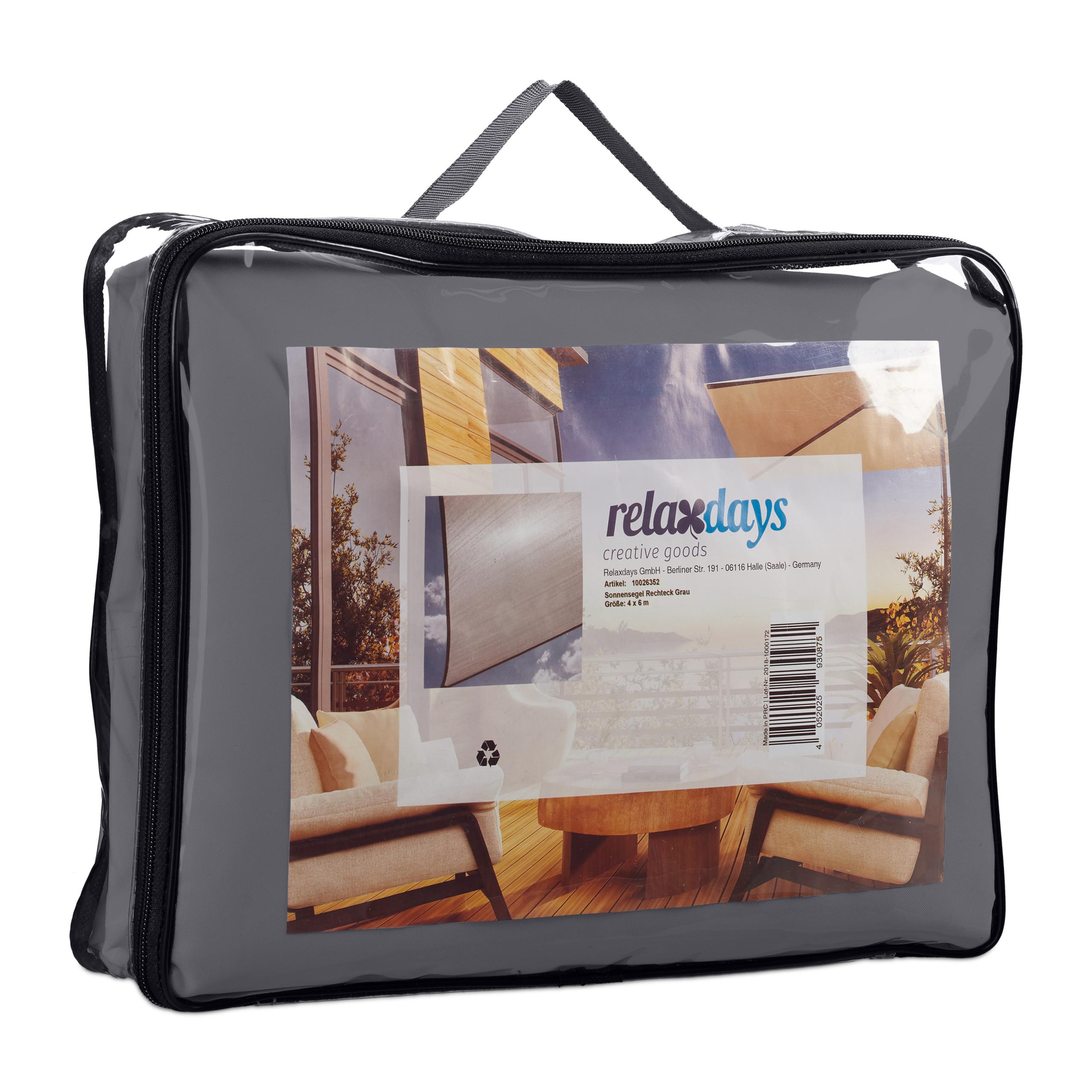 miniatura 43 - Tenda a vela rettangolare parasole ombreggiante idrorepellente anti UV grigia