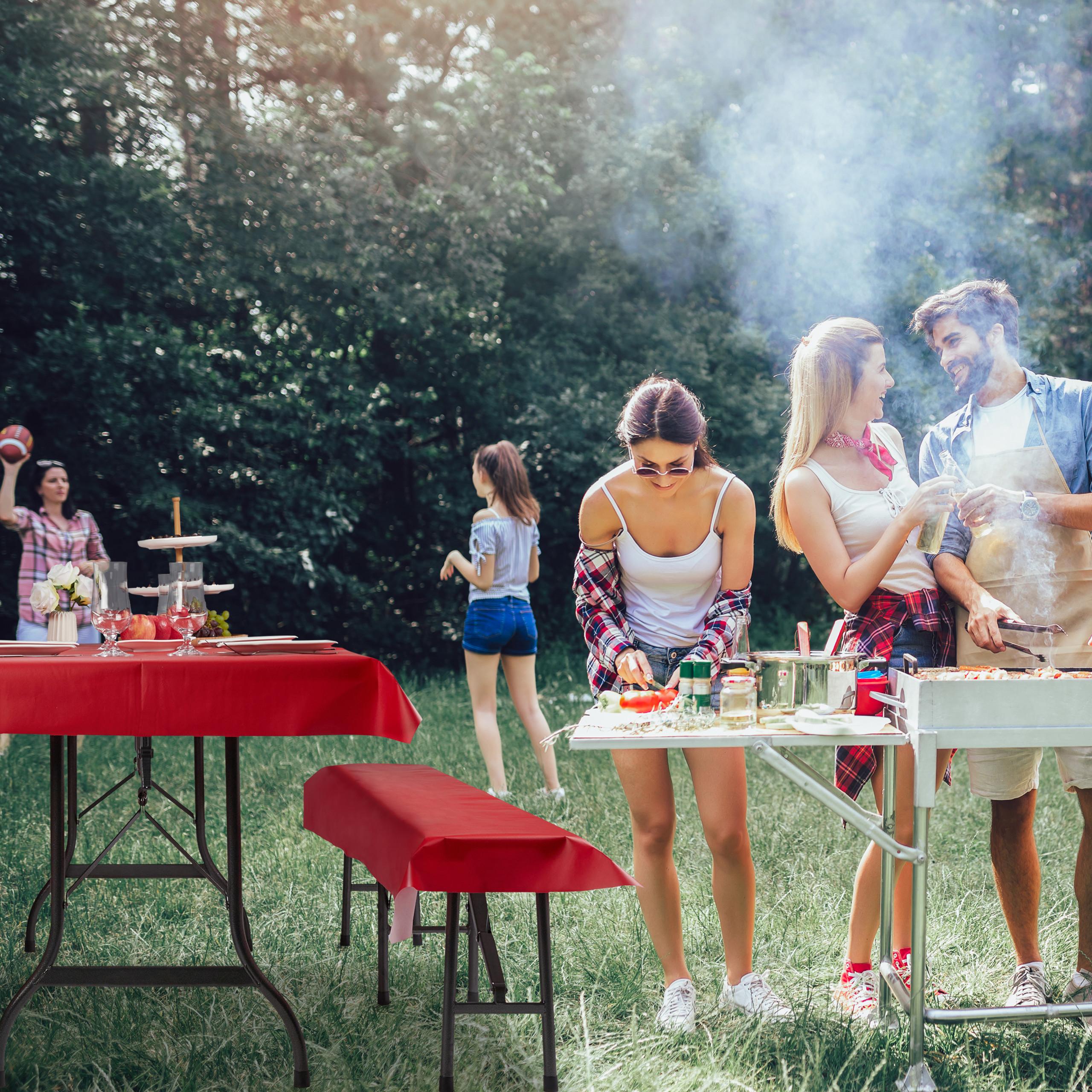 miniature 17 - Ensemble pour tente à  bière 3 éléments Nappe table à bière housses banc tente