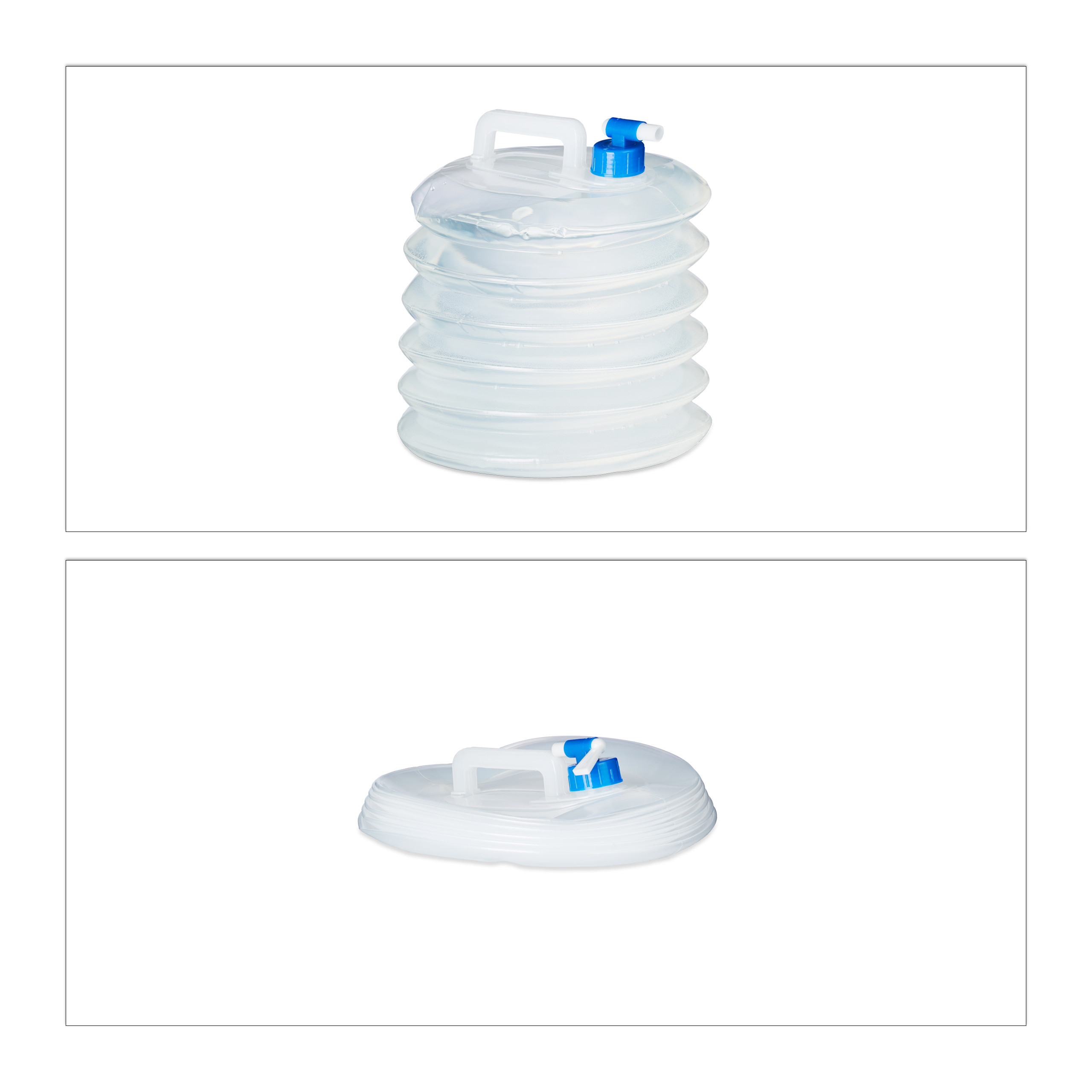 Indexbild 22 - Wasserkanister faltbar 4er Set Faltkanister Camping Trinkwasserkanister BPA frei