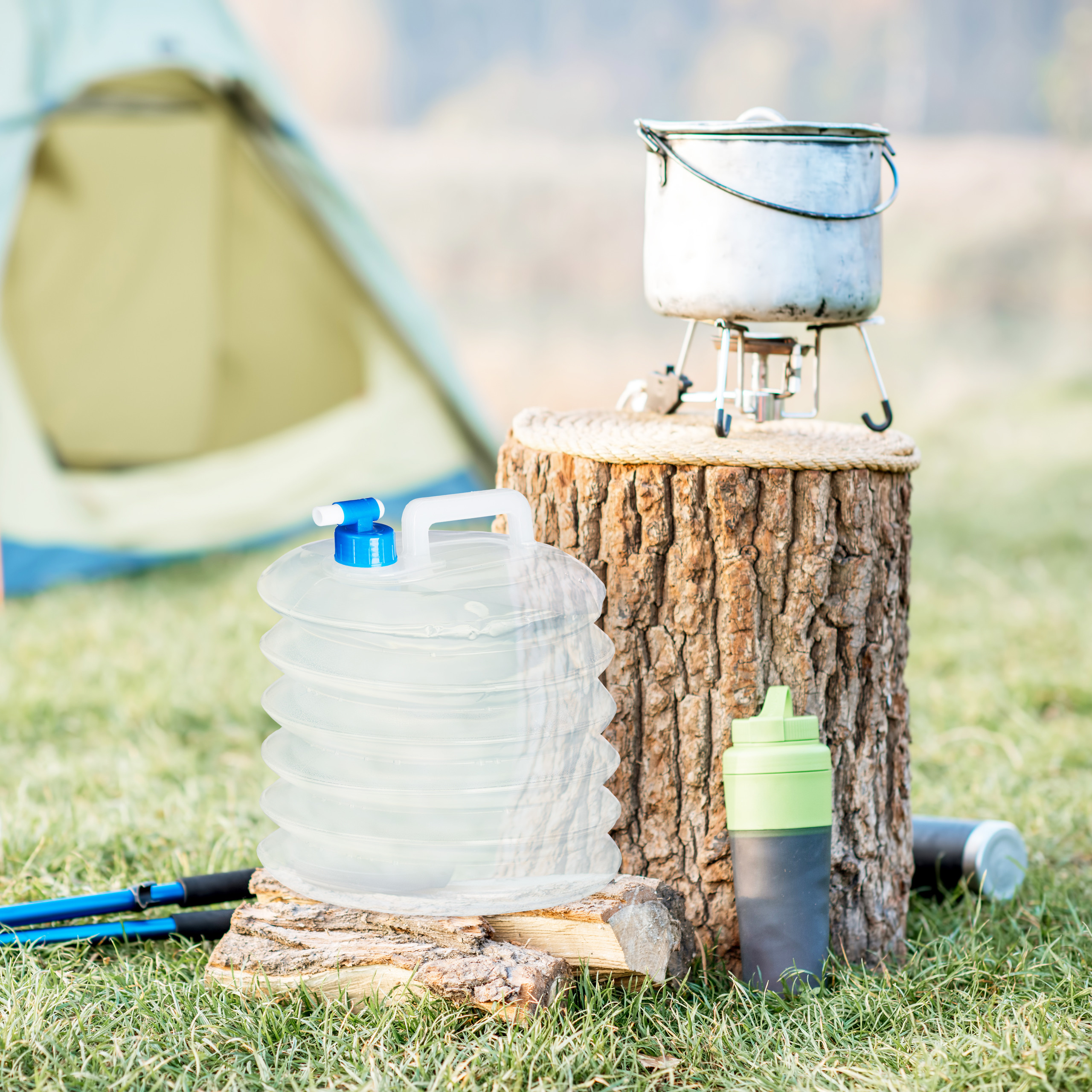Indexbild 20 - Wasserkanister faltbar 4er Set Faltkanister Camping Trinkwasserkanister BPA frei