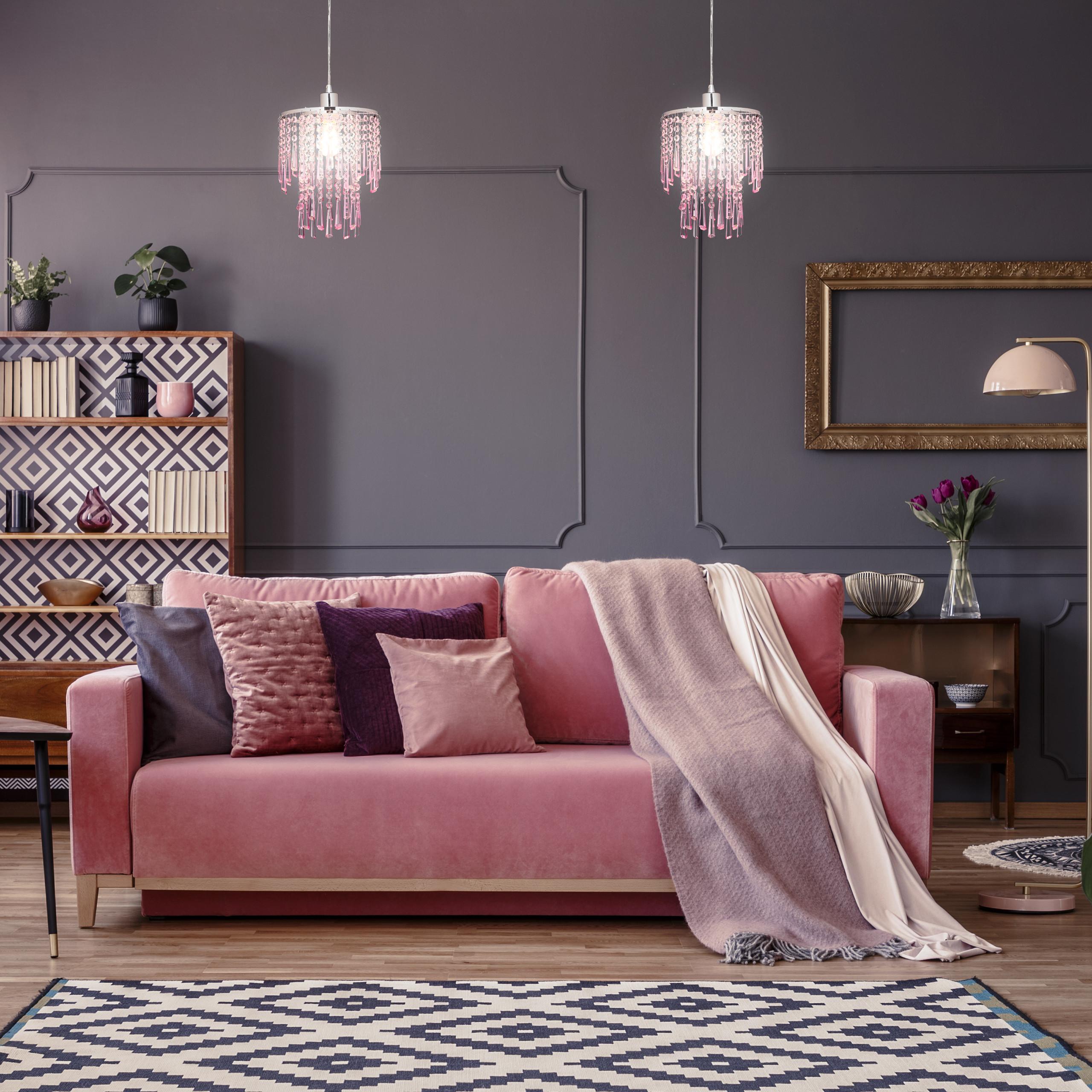 Indexbild 7 - Hängelampe Pendellampe Kronleuchter Mädchen Lampe Schlafzimmerlampe E27 Kristall