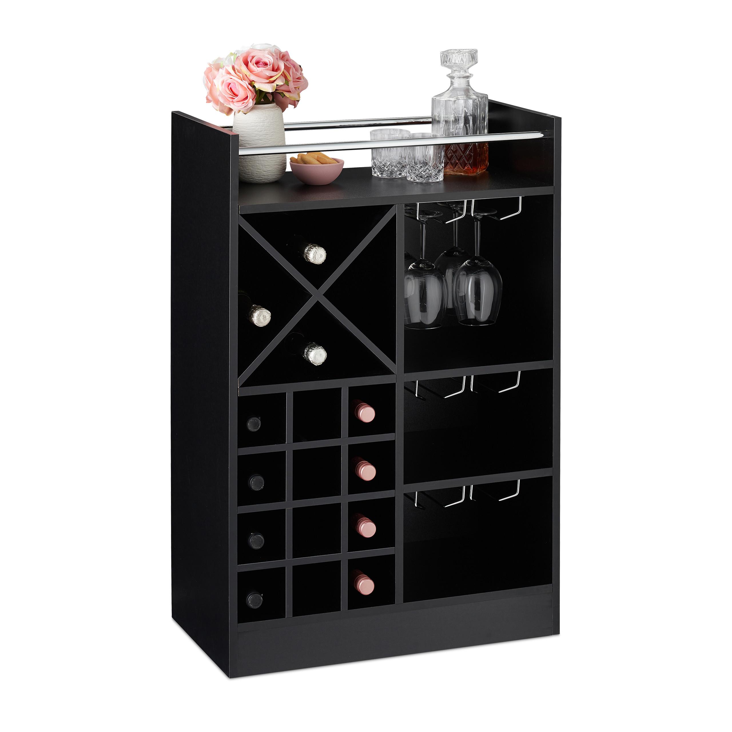 Indexbild 11 - Weinregal XL Hausbar 22 Weinflaschen Regal Weinständer Weinaufbewahrung Barmöbel