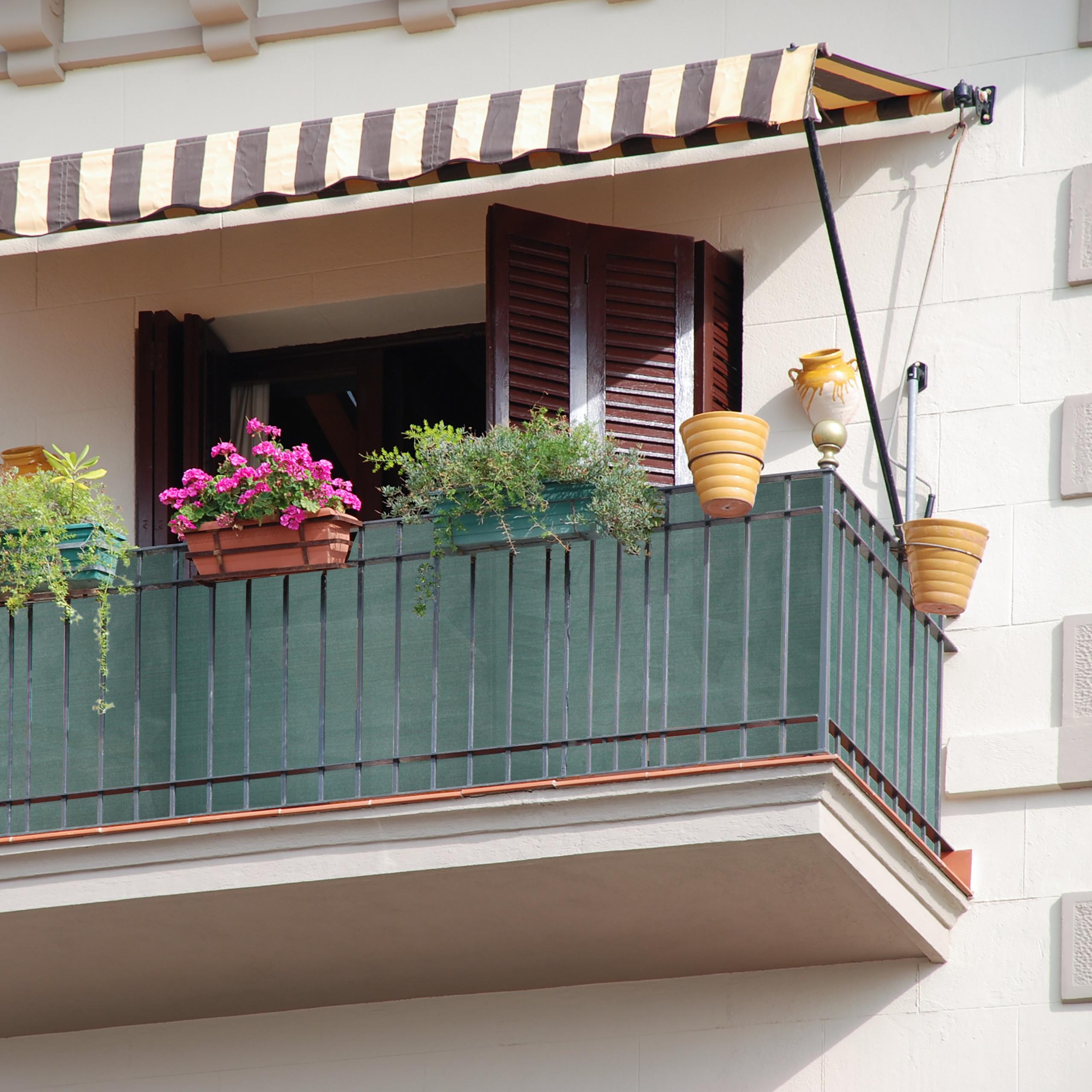 Indexbild 12 - Zaunblende grün 1m hoch, Sichtschutz Gartenzaun, Zaunsichtschutz, HDPE 150g/m²
